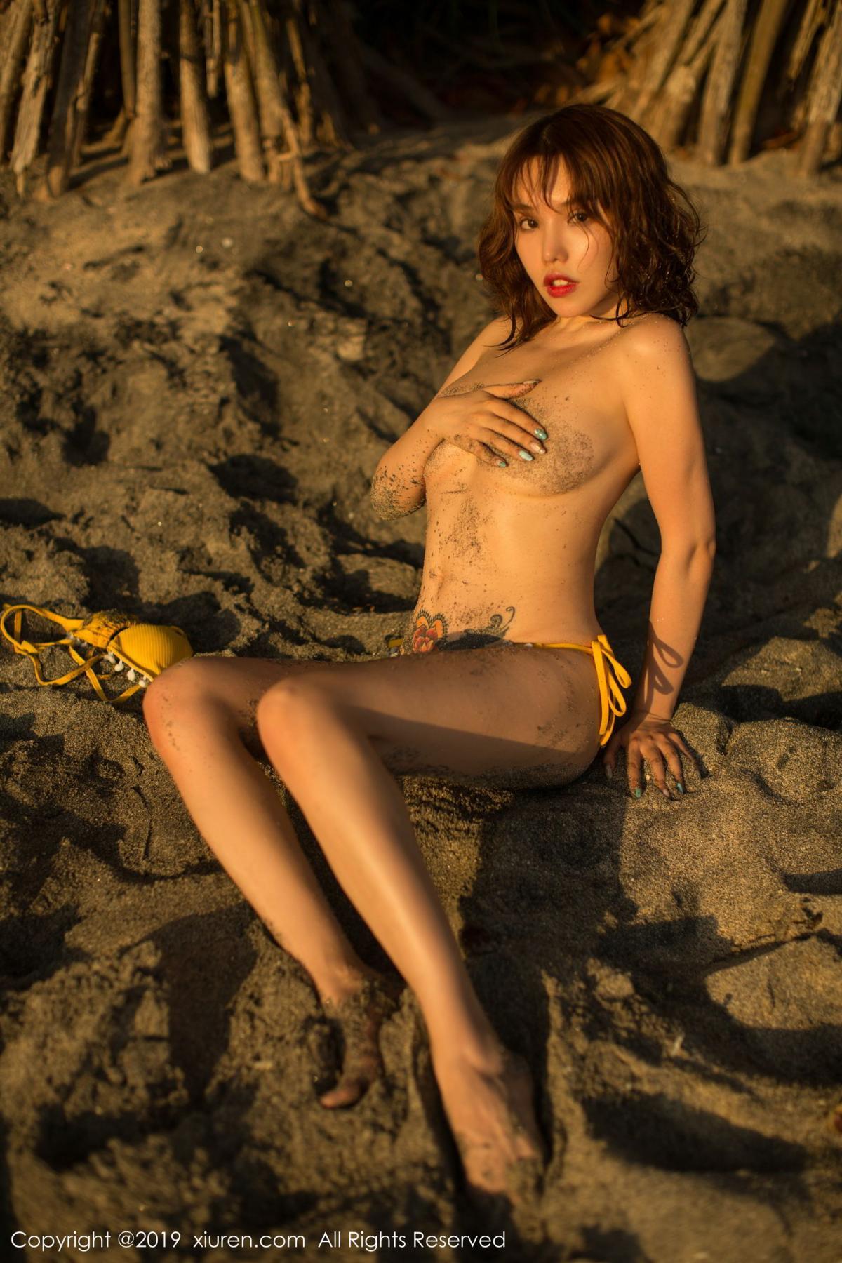 [XiuRen] Vol.1551 Huang Le Ran 9P, Beach, Bikini, Huang Le Ran, Xiuren