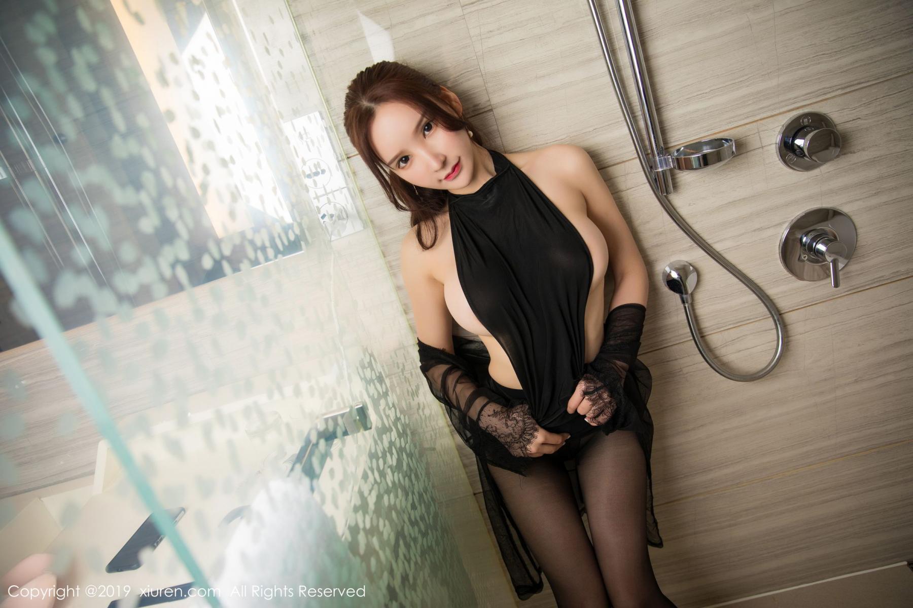 [XiuRen] Vol.1556 Zhou Yu Xi 29P, Bathroom, Black Silk, Tall, Underwear, Xiuren, Zhou Yu Xi