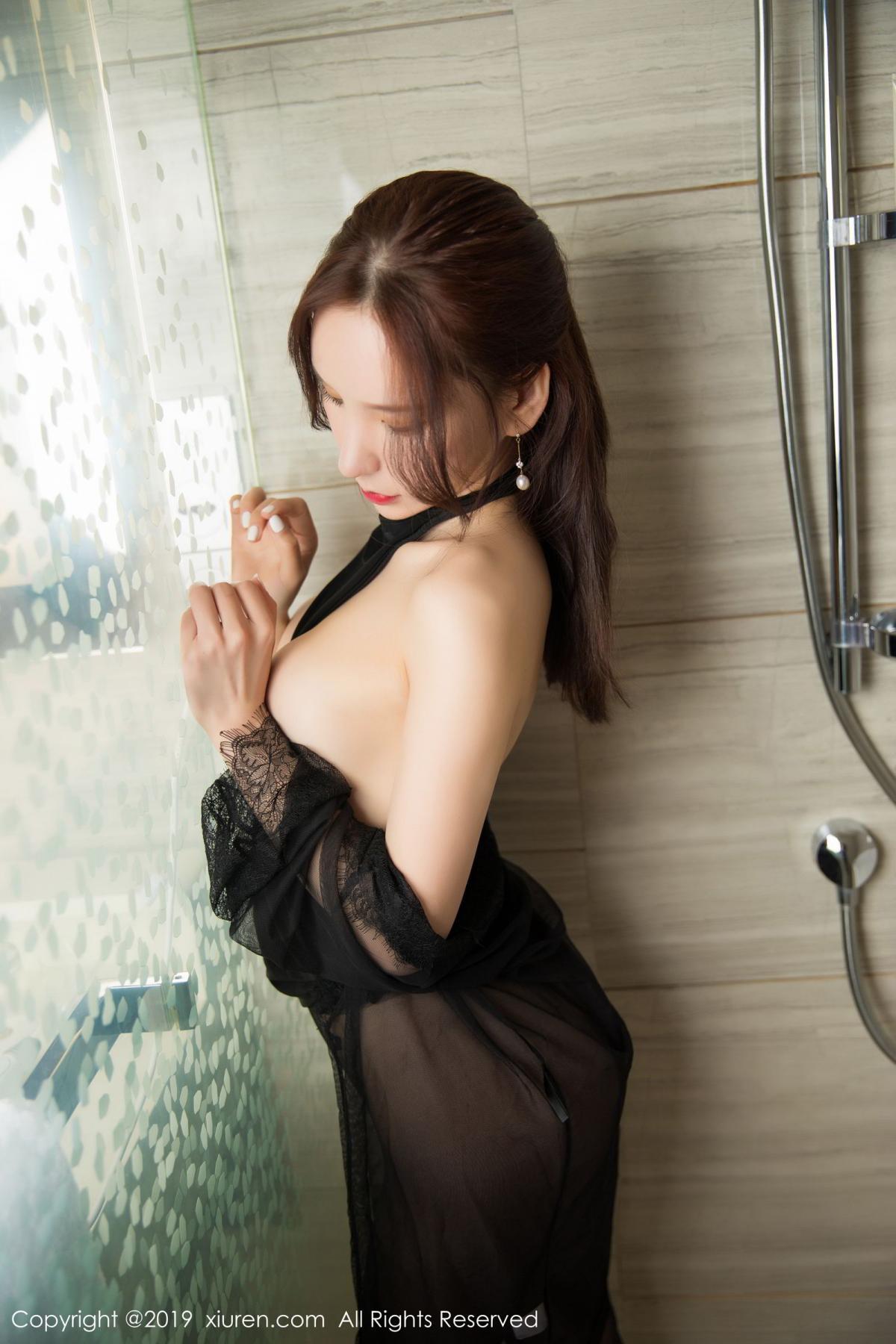 [XiuRen] Vol.1556 Zhou Yu Xi 39P, Bathroom, Black Silk, Tall, Underwear, Xiuren, Zhou Yu Xi