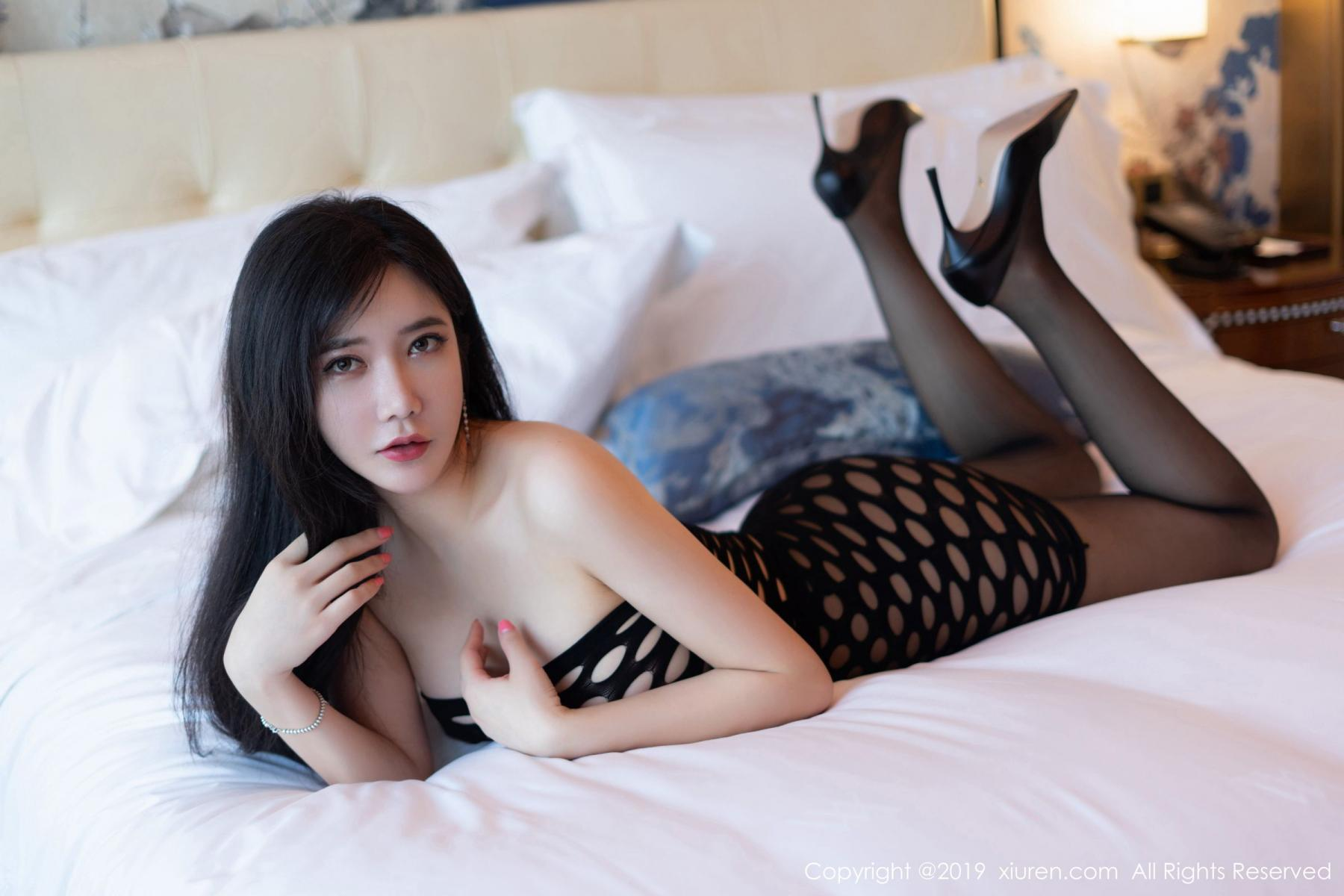 [XiuRen] Vol.1557 Li Yan Xi 19P, Adult, Black Silk, Li Yan Xi, Xiuren