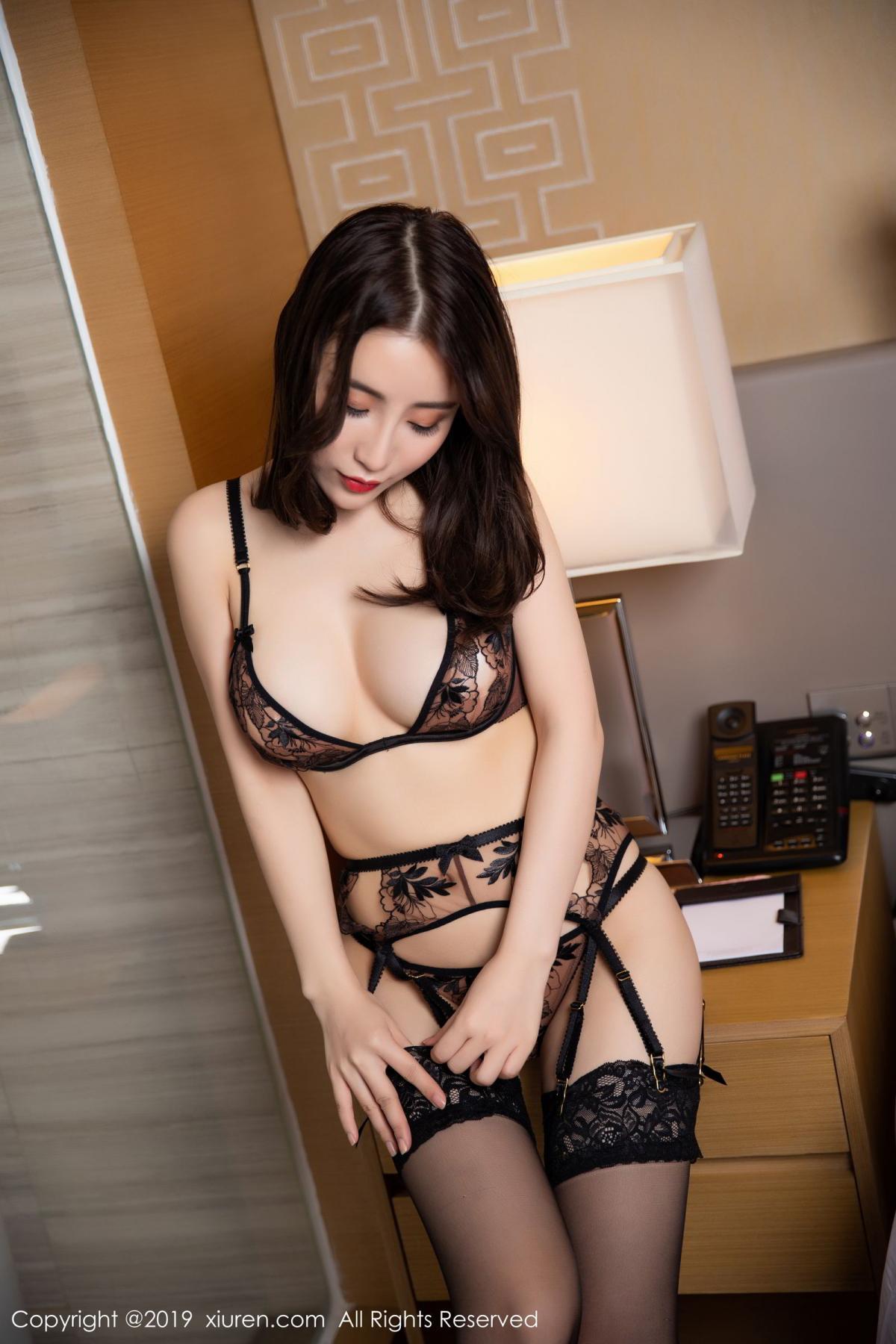 [XiuRen] Vol.1559 Xie Zhi Xin 11P, Black Silk, Tall, Underwear, Xie Zhi Xin, Xiuren