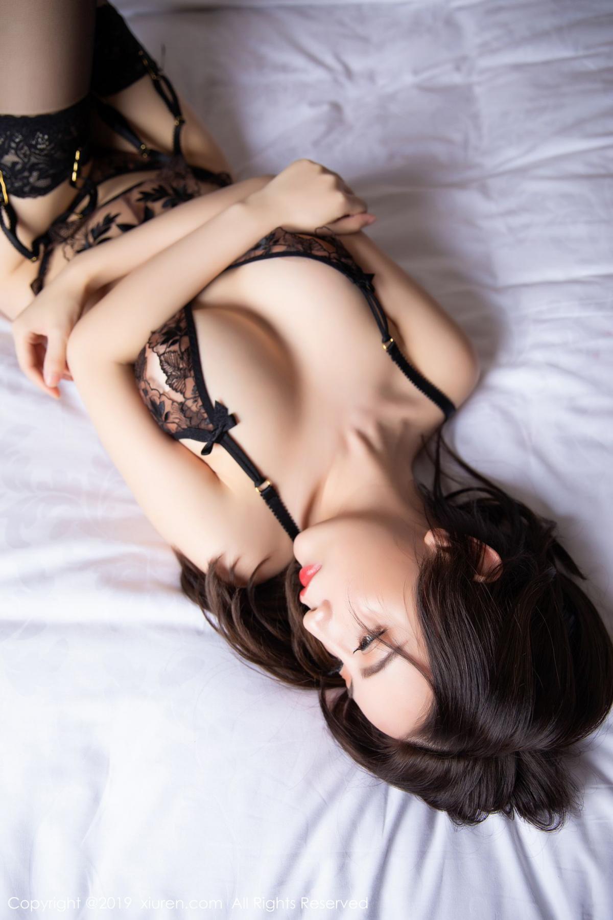 [XiuRen] Vol.1559 Xie Zhi Xin 48P, Black Silk, Tall, Underwear, Xie Zhi Xin, Xiuren