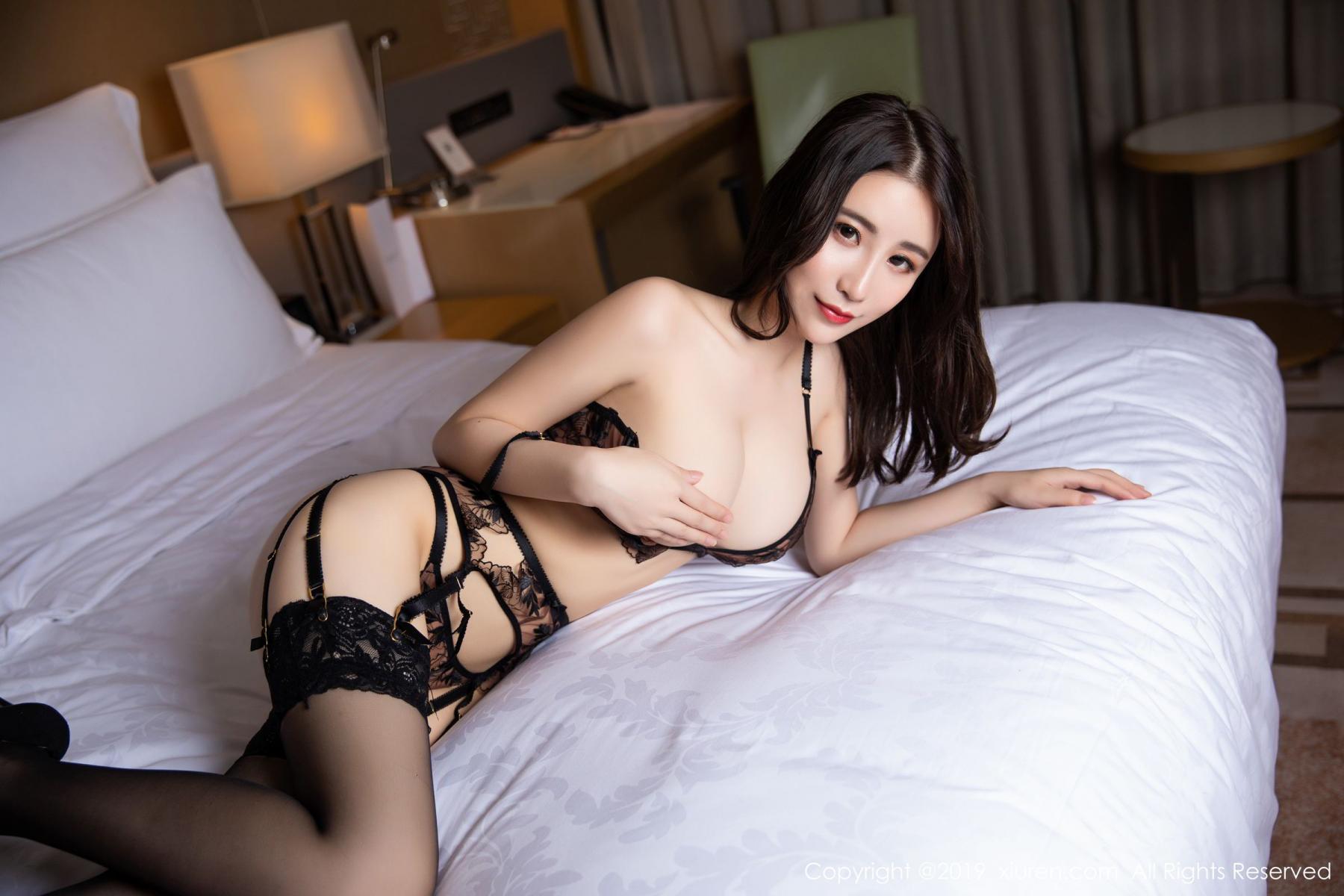[XiuRen] Vol.1559 Xie Zhi Xin 54P, Black Silk, Tall, Underwear, Xie Zhi Xin, Xiuren