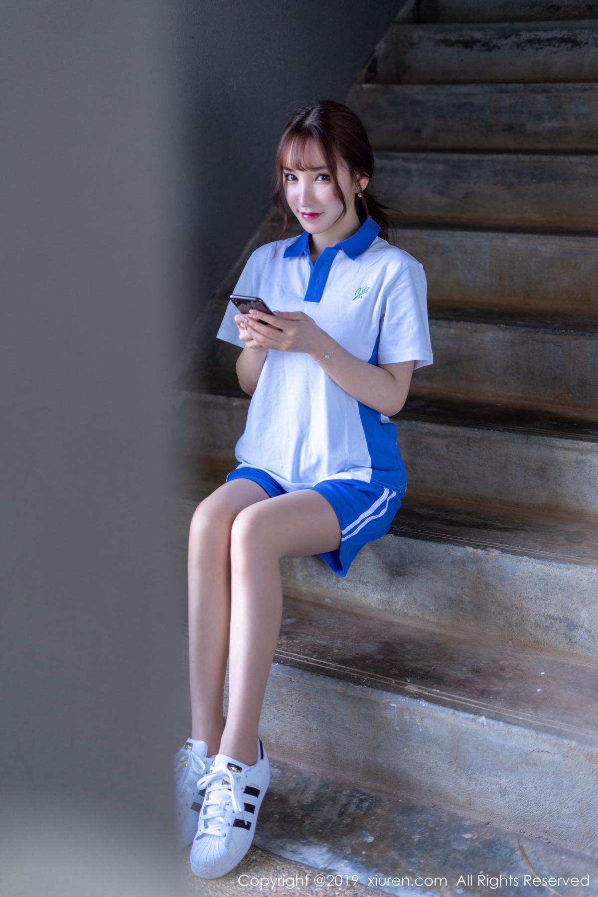 [XiuRen] Vol.1561 Zhou Yu Xi 1P, School Uniform, Sisters, Underwear, Xiuren, Zhou Yu Xi