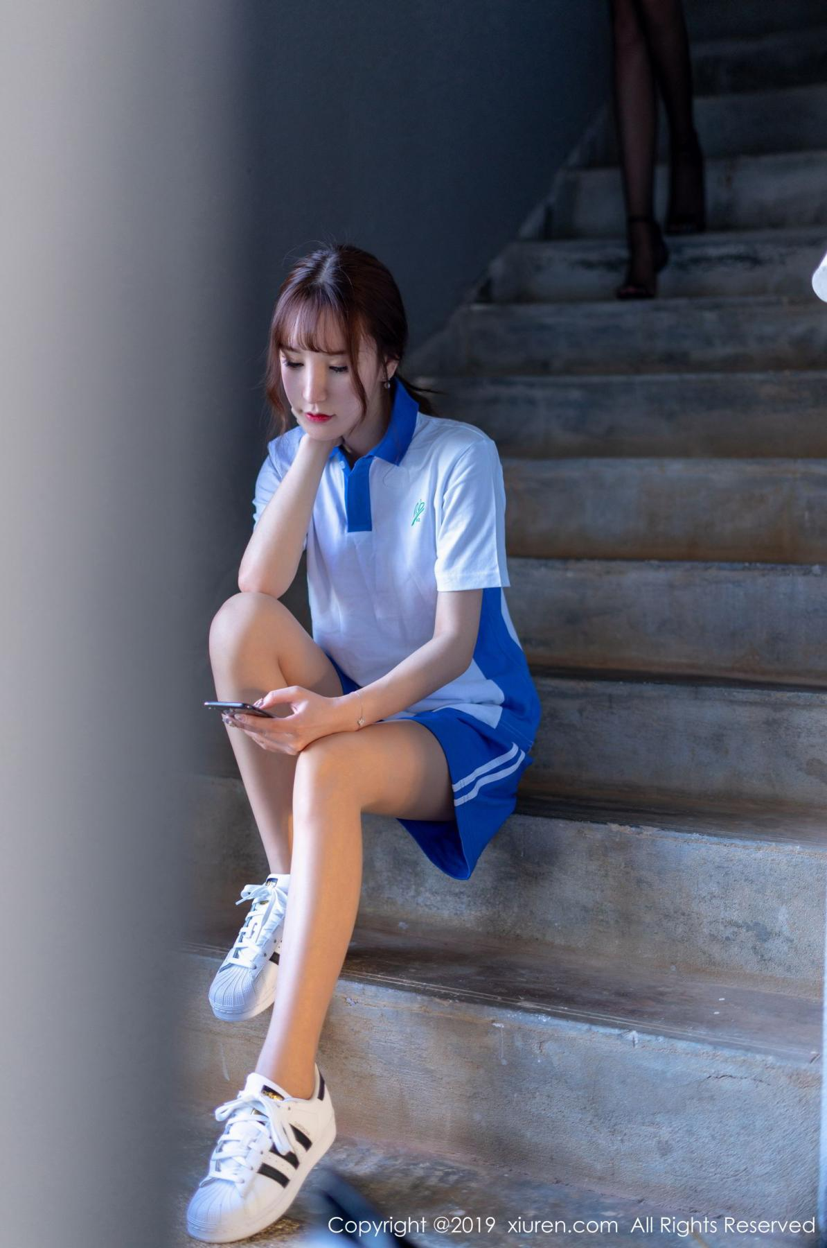 [XiuRen] Vol.1561 Zhou Yu Xi 9P, School Uniform, Sisters, Underwear, Xiuren, Zhou Yu Xi