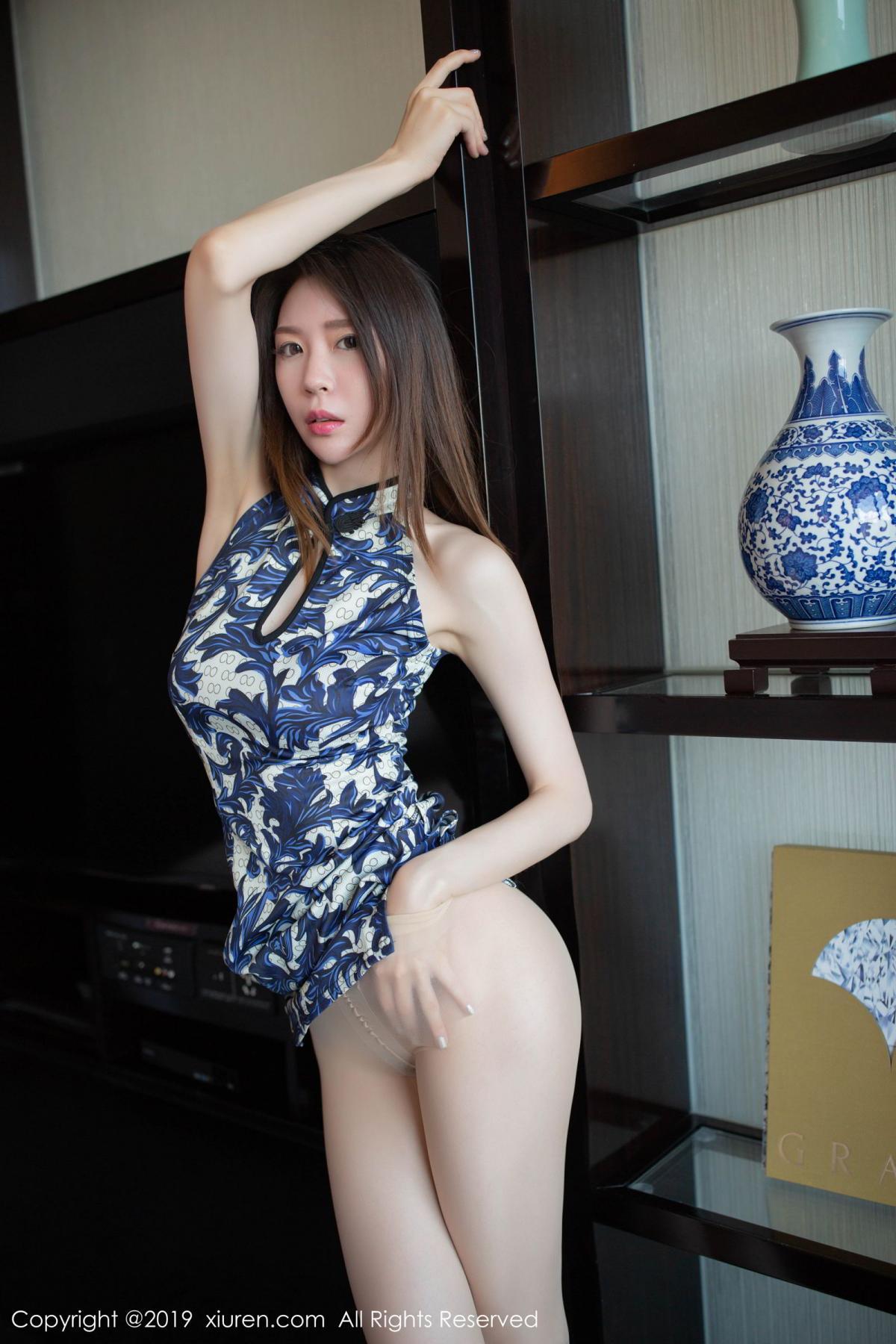 [XiuRen] Vol.1564 Meng Xin Yue 31P, Cheongsam, Meng Xin Yue, Tall, Xiuren