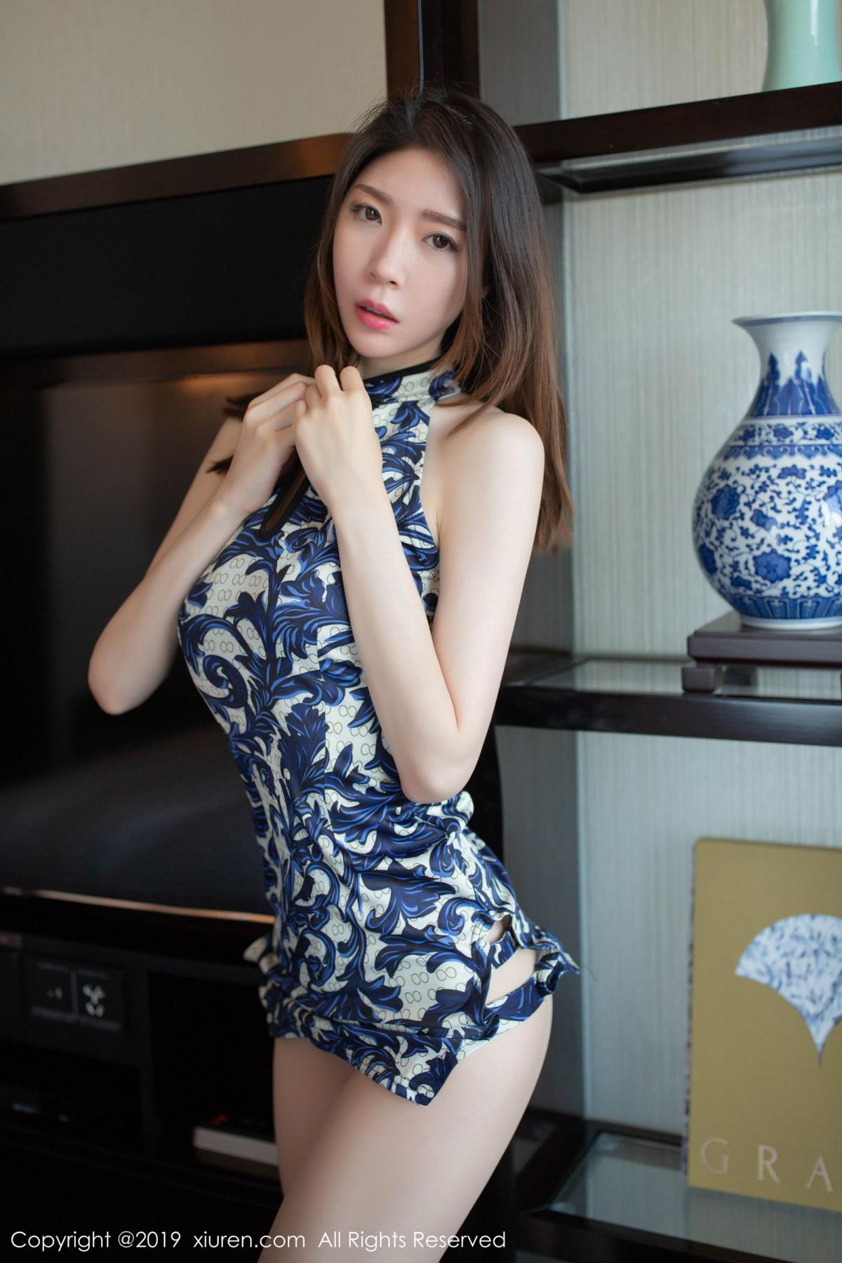 [XiuRen] Vol.1564 Meng Xin Yue 35P, Cheongsam, Meng Xin Yue, Tall, Xiuren