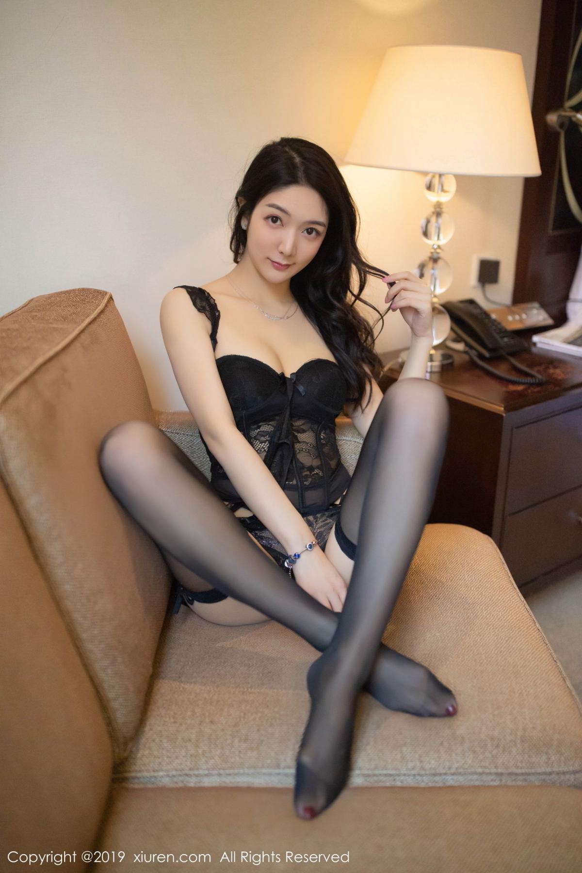[XiuRen] Vol.1572 Di Yi 1P, Black Silk, Di Yi, Tall, Underwear, Xiuren