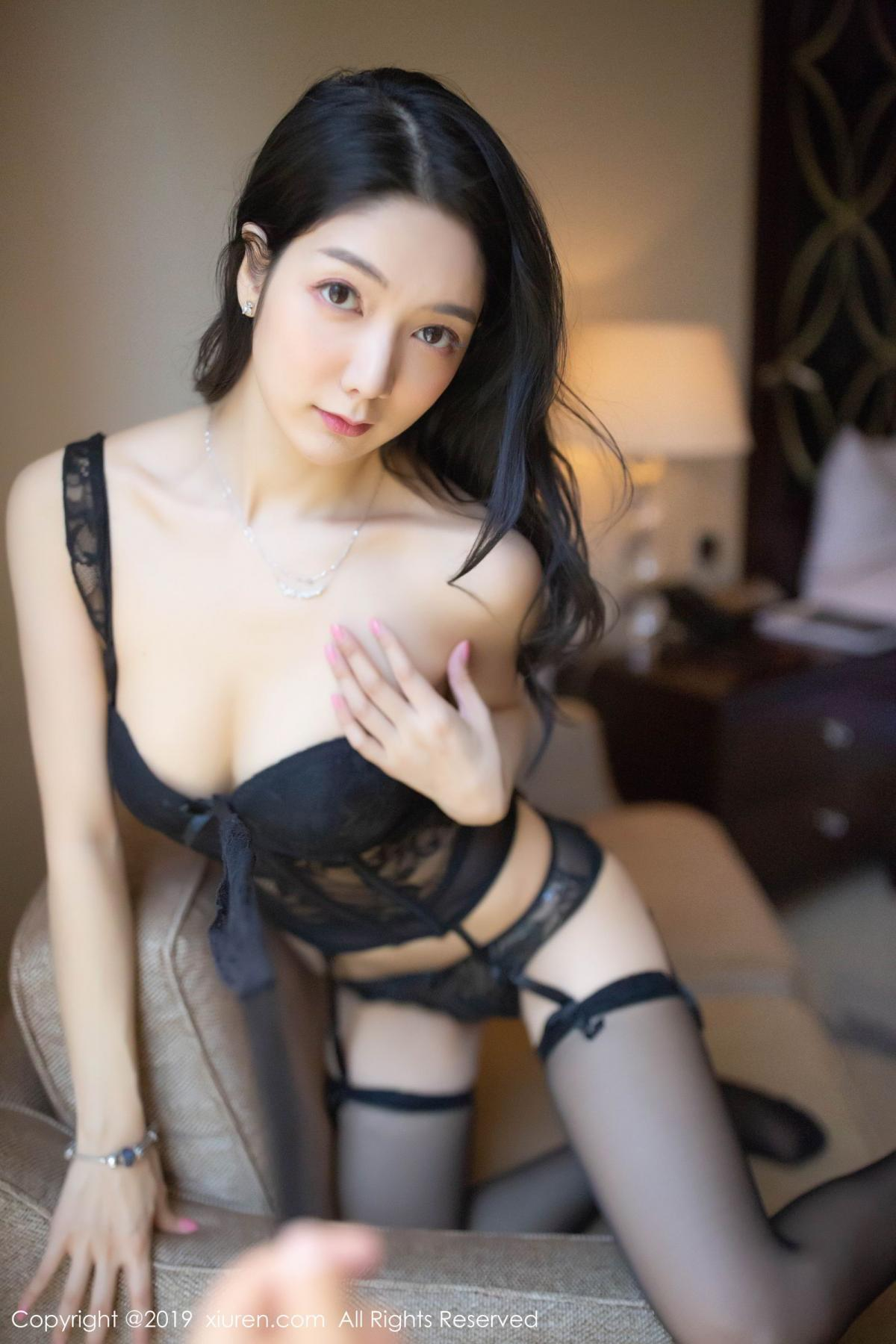 [XiuRen] Vol.1572 Di Yi 20P, Black Silk, Di Yi, Tall, Underwear, Xiuren