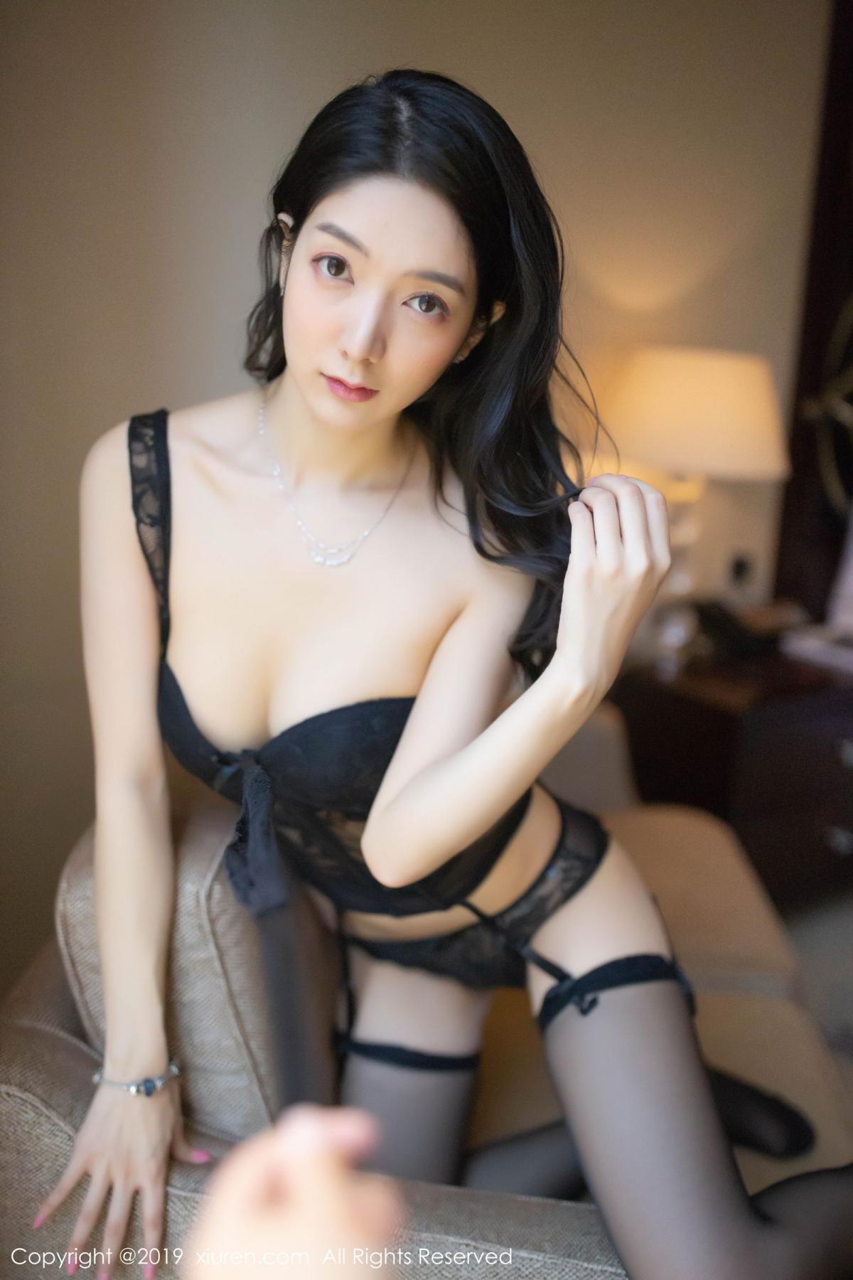 [XiuRen] Vol.1572 Di Yi 21P, Black Silk, Di Yi, Tall, Underwear, Xiuren