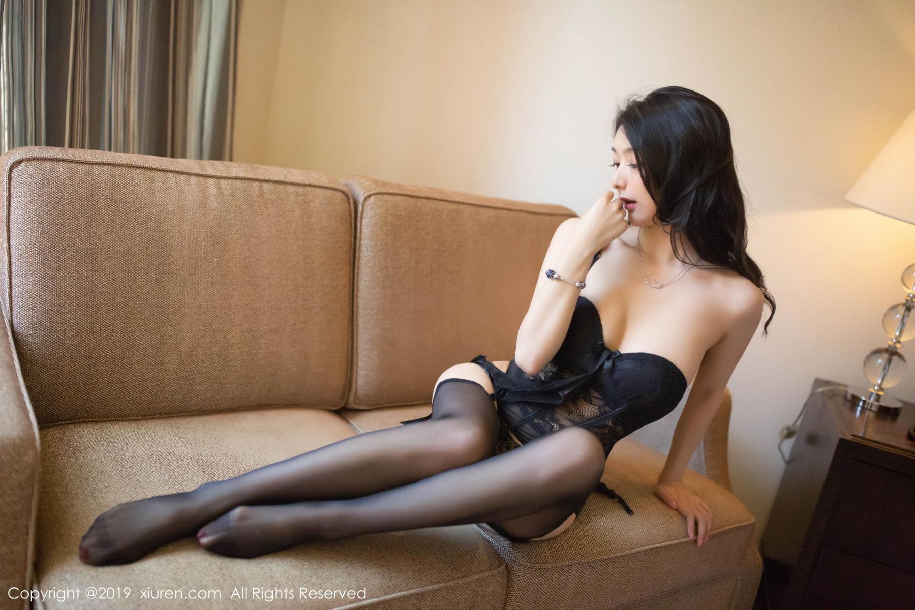 [XiuRen] Vol.1572 Di Yi 23P, Black Silk, Di Yi, Tall, Underwear, Xiuren