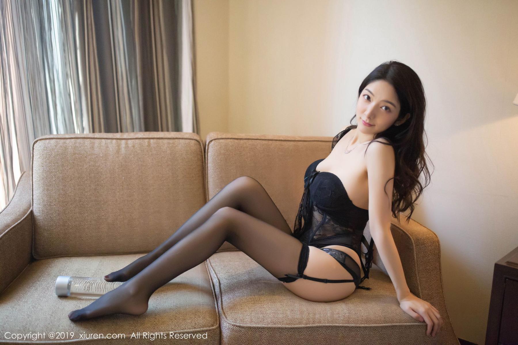 [XiuRen] Vol.1572 Di Yi 24P, Black Silk, Di Yi, Tall, Underwear, Xiuren