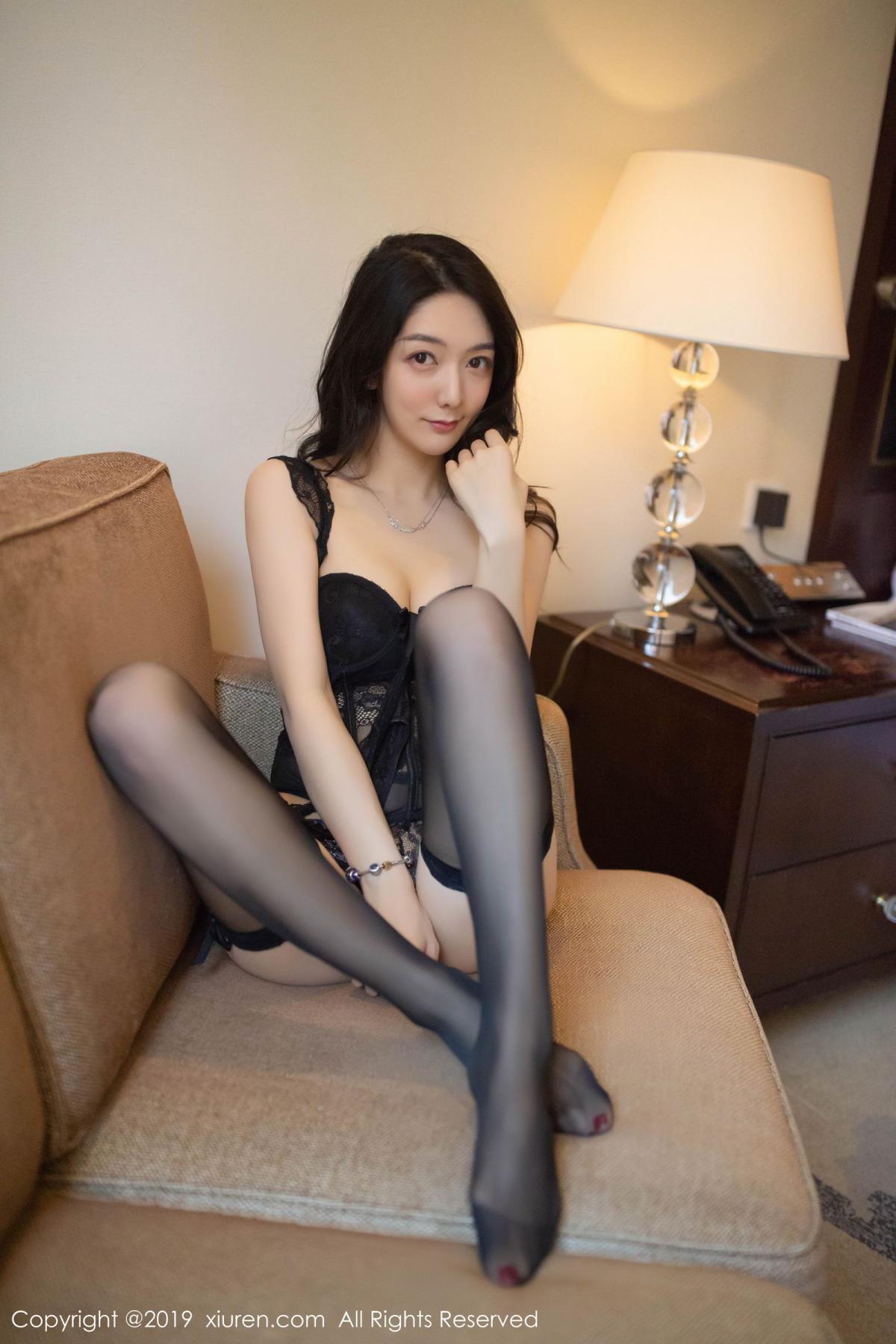 [XiuRen] Vol.1572 Di Yi 29P, Black Silk, Di Yi, Tall, Underwear, Xiuren
