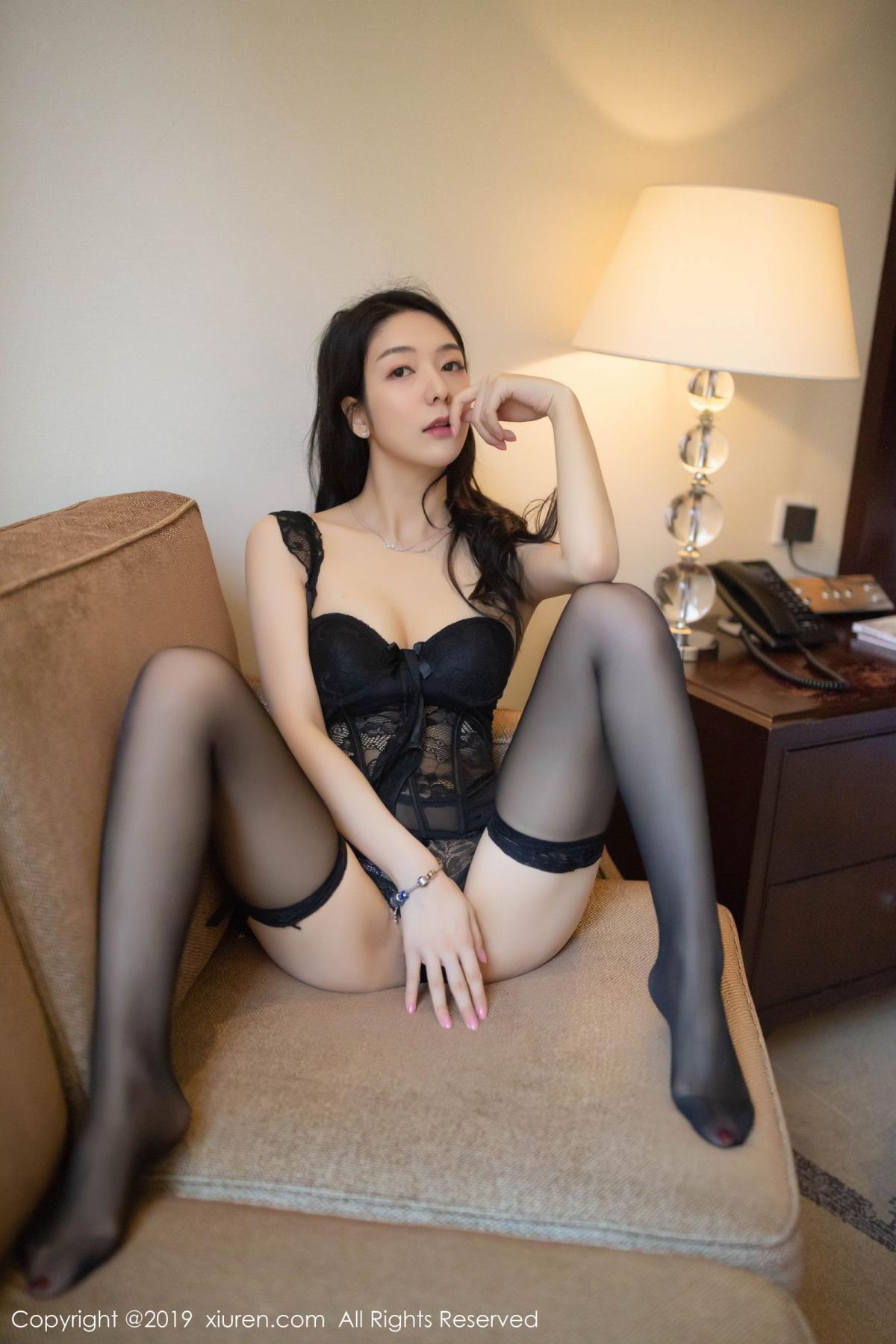 [XiuRen] Vol.1572 Di Yi 31P, Black Silk, Di Yi, Tall, Underwear, Xiuren