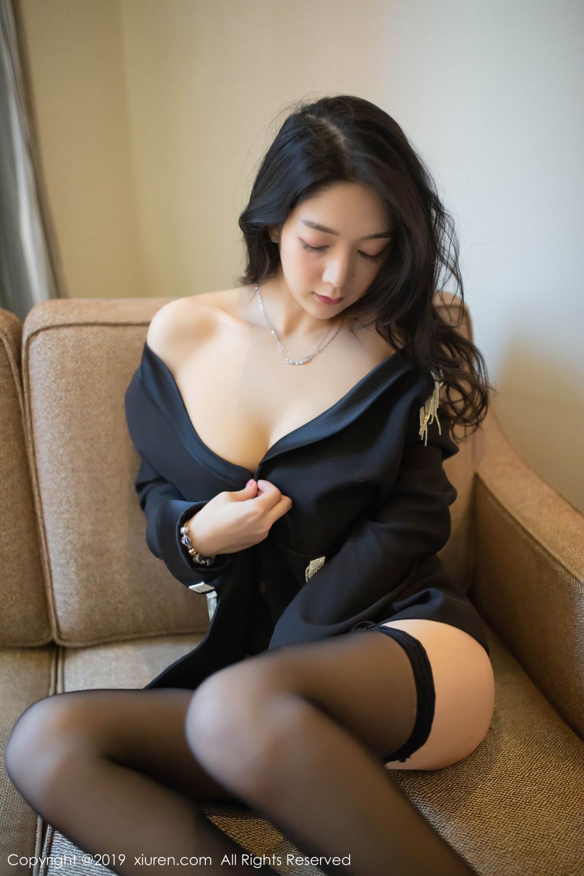 [XiuRen] Vol.1572 Di Yi 37P, Black Silk, Di Yi, Tall, Underwear, Xiuren