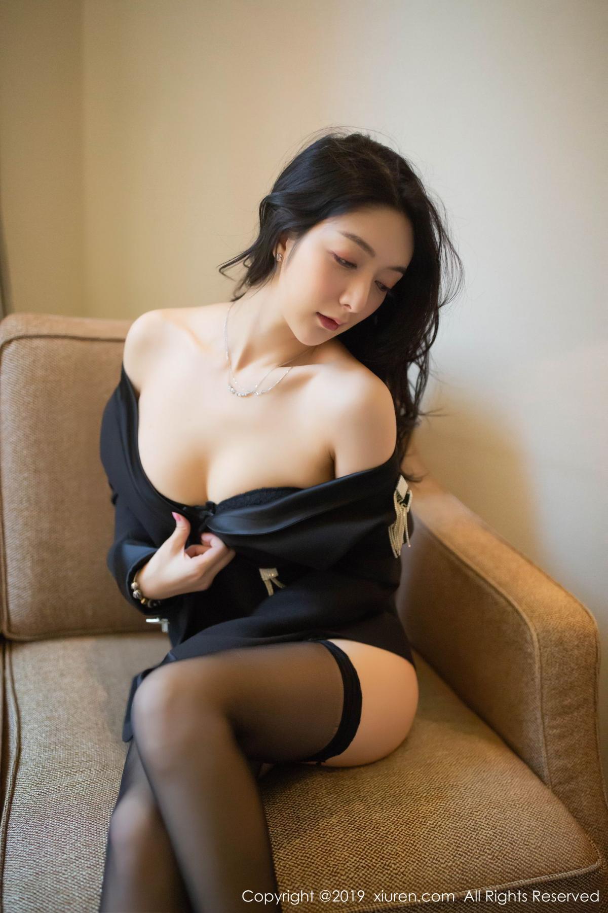 [XiuRen] Vol.1572 Di Yi 38P, Black Silk, Di Yi, Tall, Underwear, Xiuren
