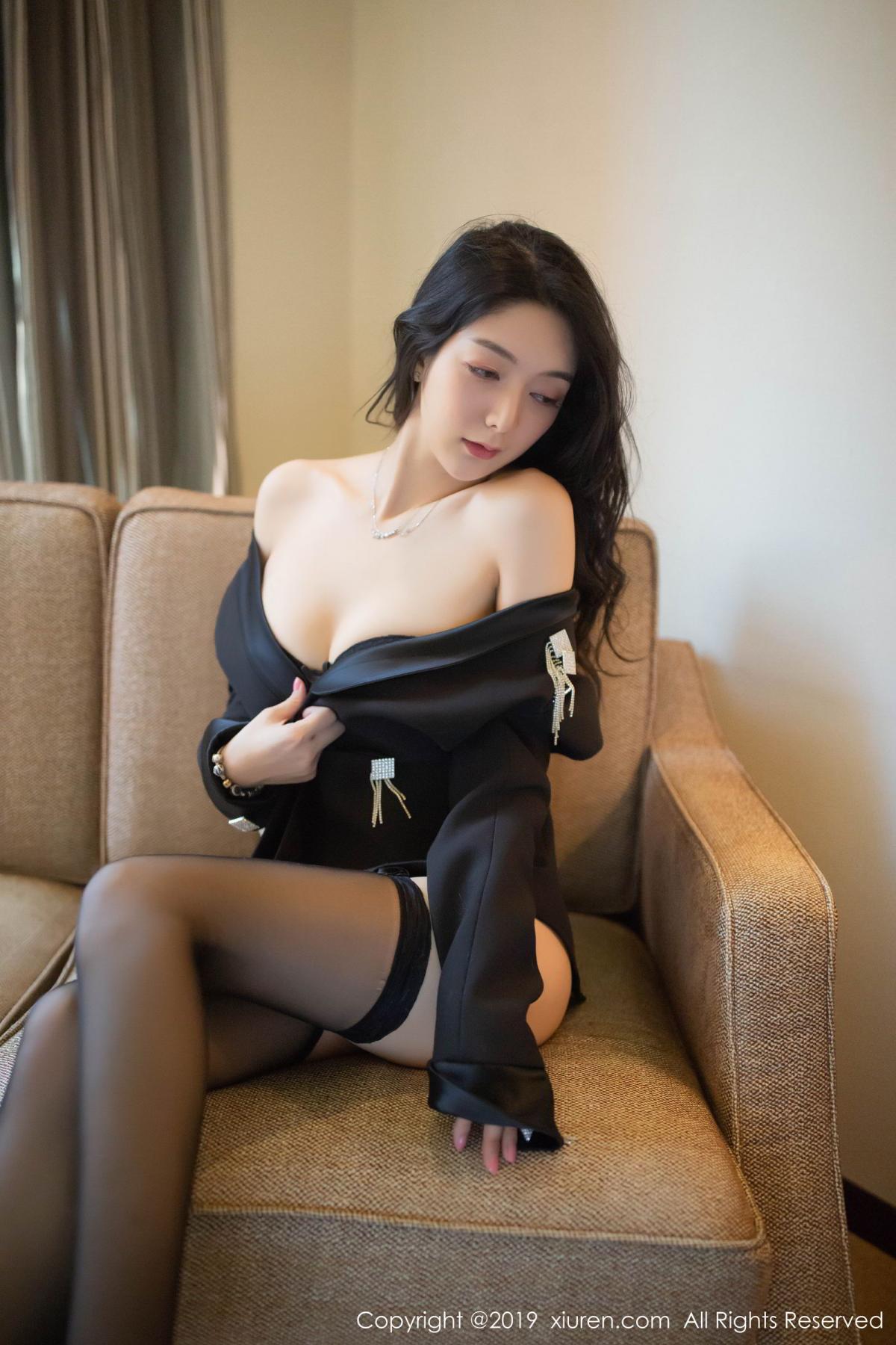 [XiuRen] Vol.1572 Di Yi 39P, Black Silk, Di Yi, Tall, Underwear, Xiuren