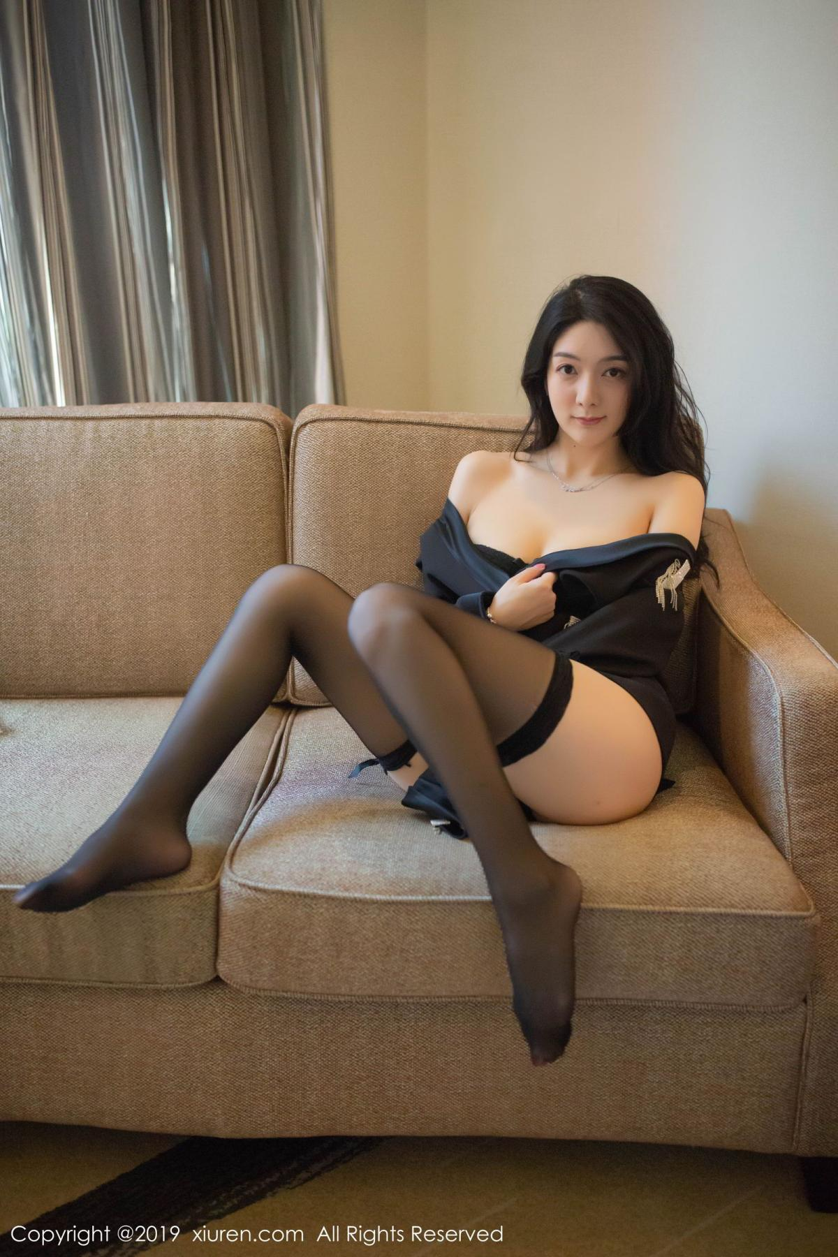 [XiuRen] Vol.1572 Di Yi 40P, Black Silk, Di Yi, Tall, Underwear, Xiuren