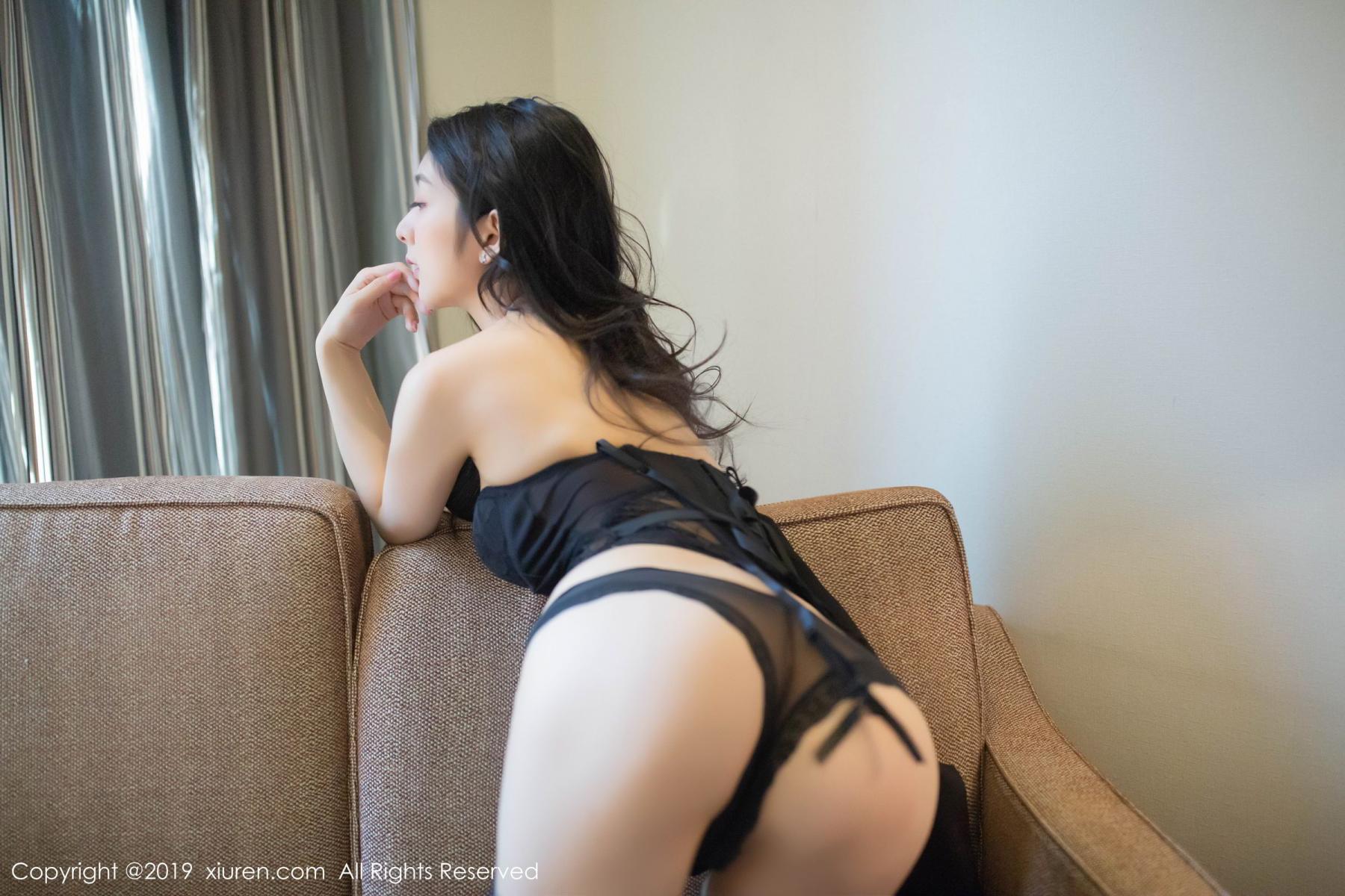 [XiuRen] Vol.1572 Di Yi 45P, Black Silk, Di Yi, Tall, Underwear, Xiuren