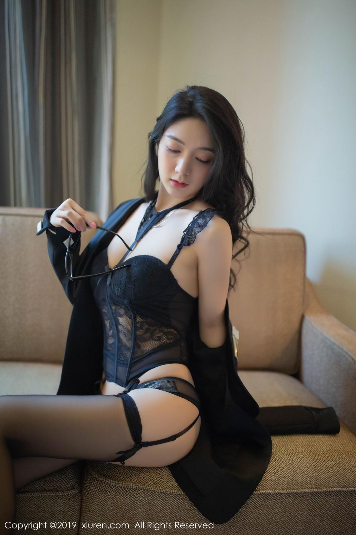 [XiuRen] Vol.1572 Di Yi 6P, Black Silk, Di Yi, Tall, Underwear, Xiuren