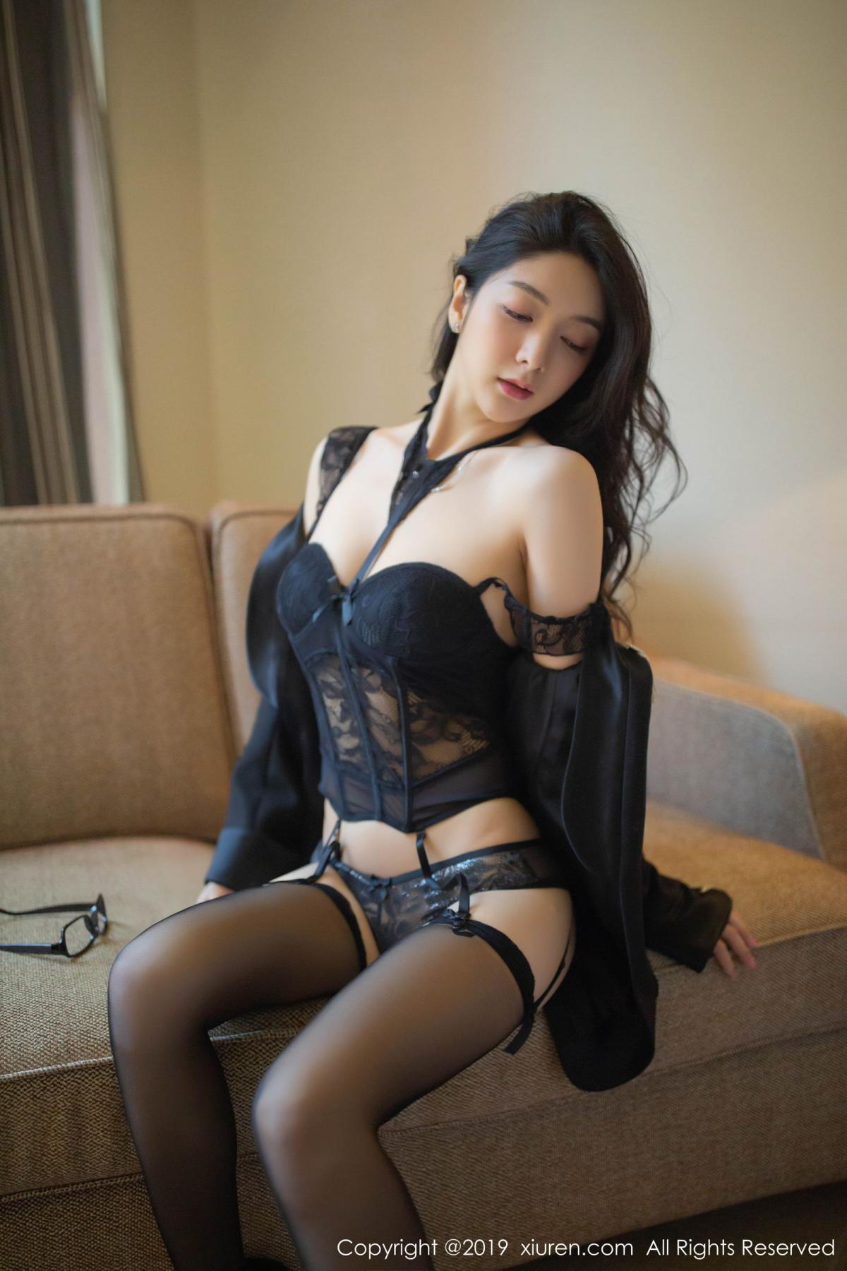 [XiuRen] Vol.1572 Di Yi 7P, Black Silk, Di Yi, Tall, Underwear, Xiuren