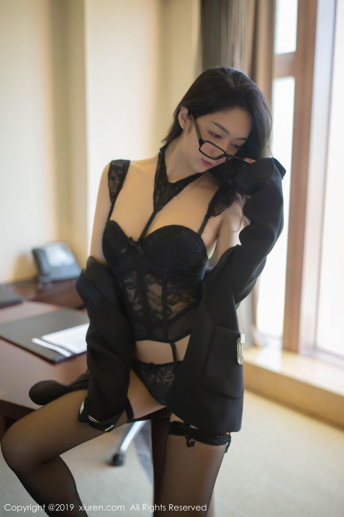 [XiuRen] Vol.1572 Di Yi 8P, Black Silk, Di Yi, Tall, Underwear, Xiuren