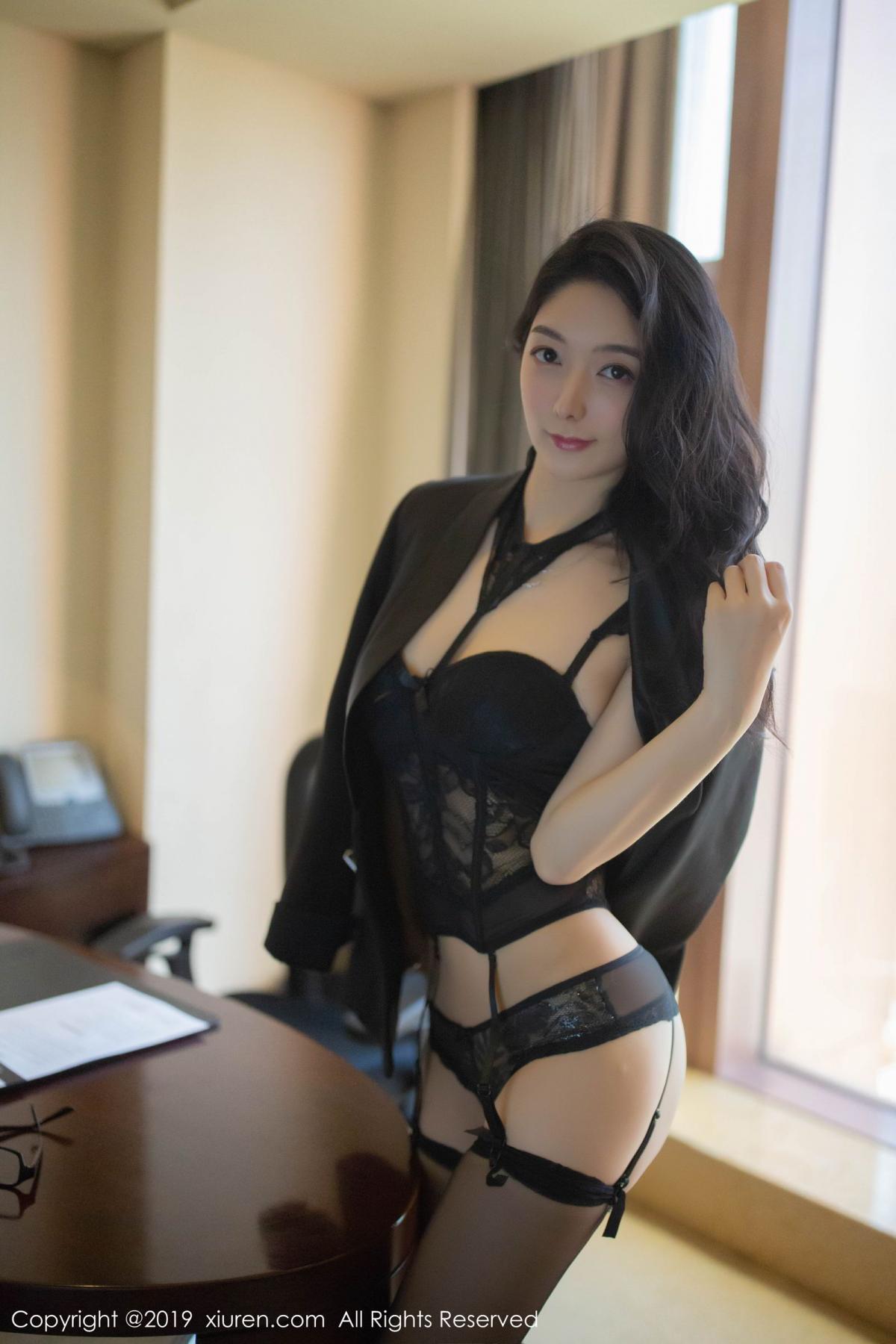 [XiuRen] Vol.1572 Di Yi 9P, Black Silk, Di Yi, Tall, Underwear, Xiuren