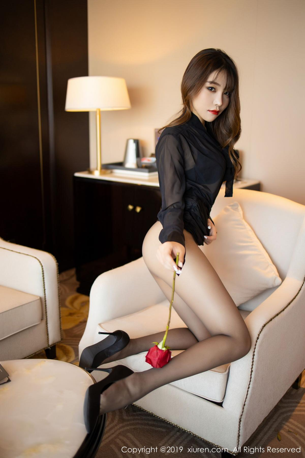 [XiuRen] Vol.1579 Chen Zhi 32P, Big Booty, Black Silk, Chen Zhi, Tall, Xiuren