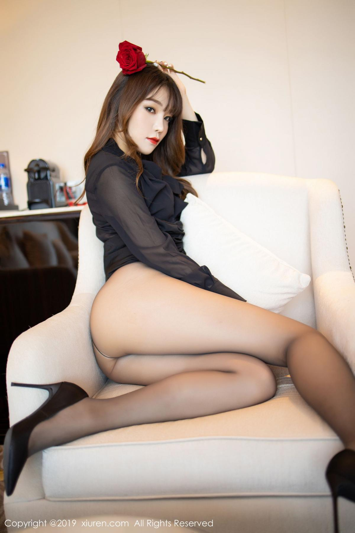 [XiuRen] Vol.1579 Chen Zhi 35P, Big Booty, Black Silk, Chen Zhi, Tall, Xiuren