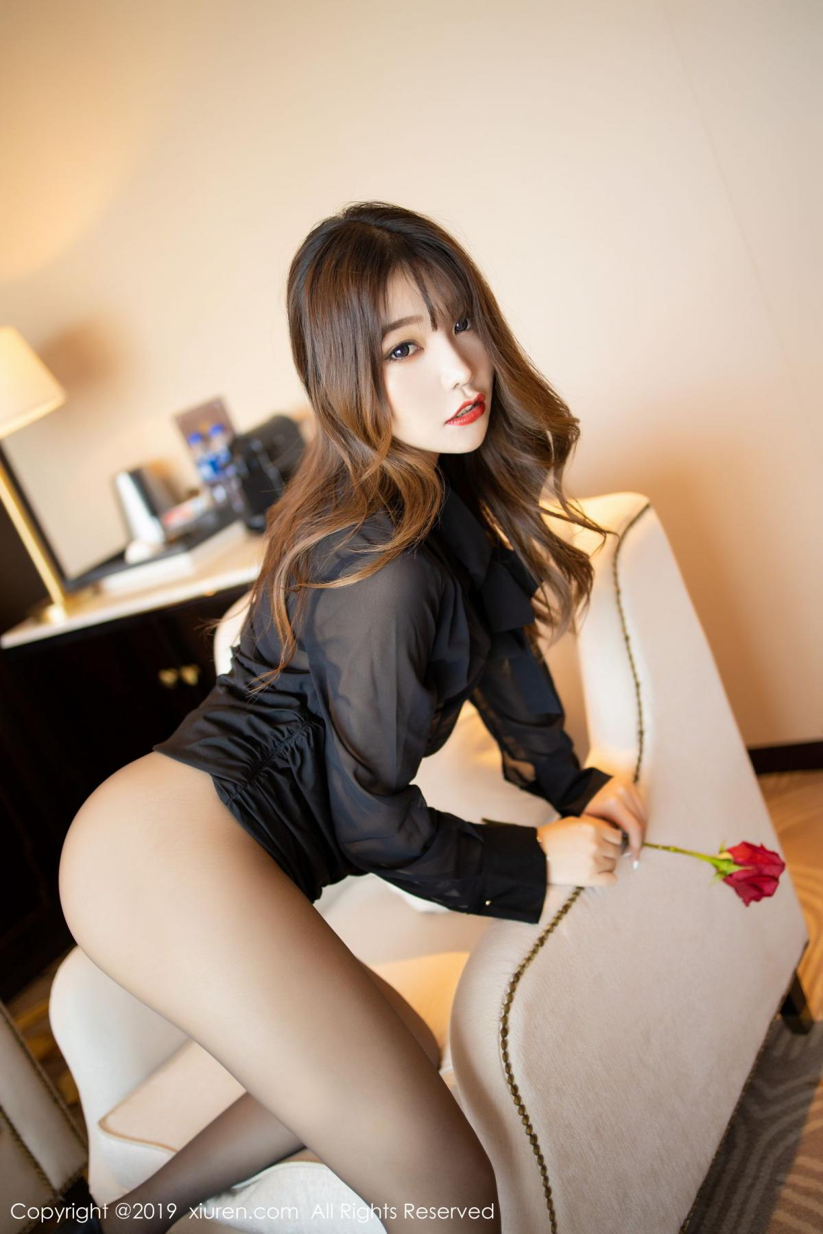[XiuRen] Vol.1579 Chen Zhi 37P, Big Booty, Black Silk, Chen Zhi, Tall, Xiuren