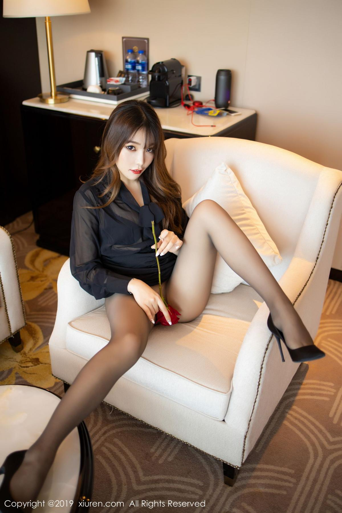 [XiuRen] Vol.1579 Chen Zhi 39P, Big Booty, Black Silk, Chen Zhi, Tall, Xiuren