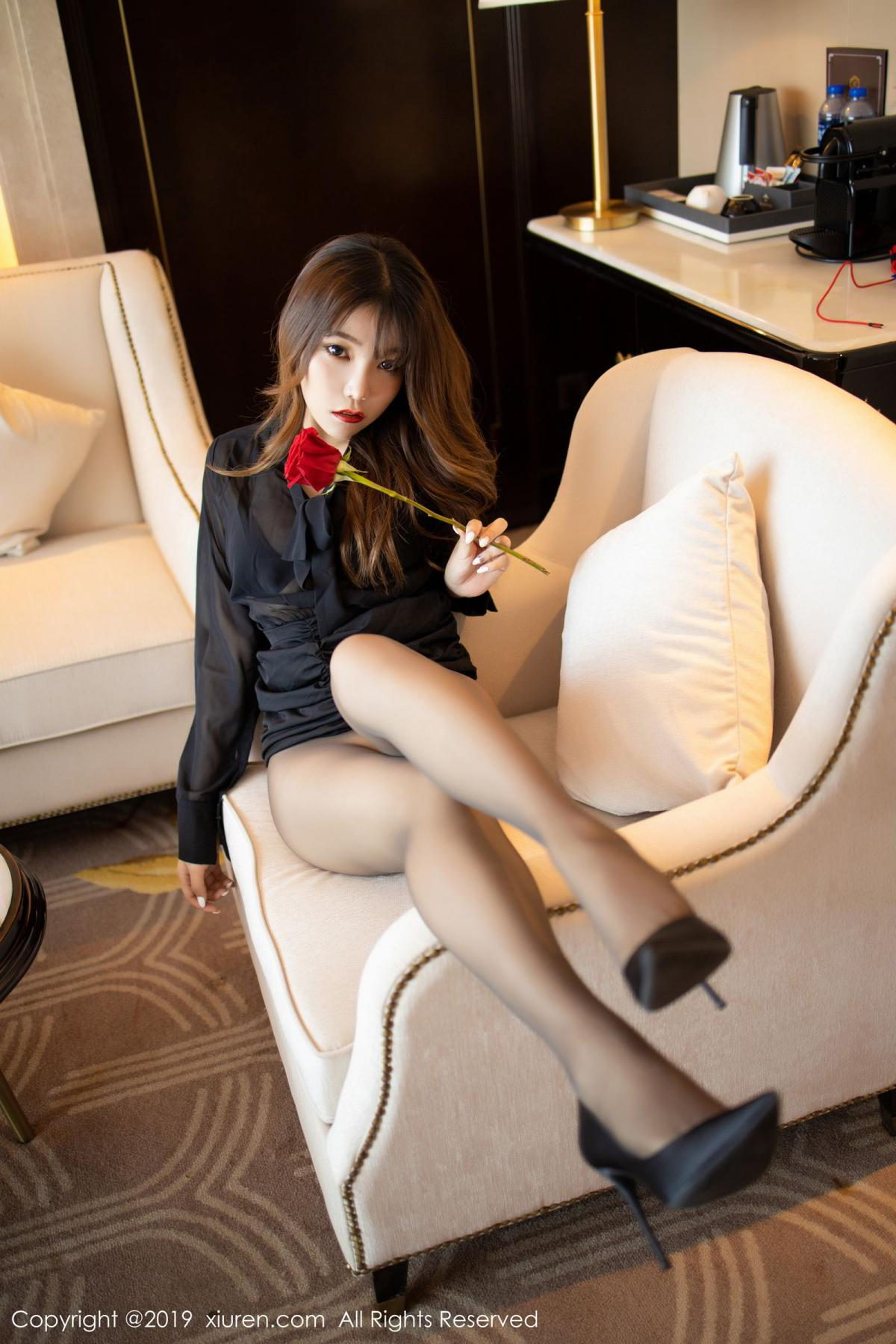 [XiuRen] Vol.1579 Chen Zhi 42P, Big Booty, Black Silk, Chen Zhi, Tall, Xiuren