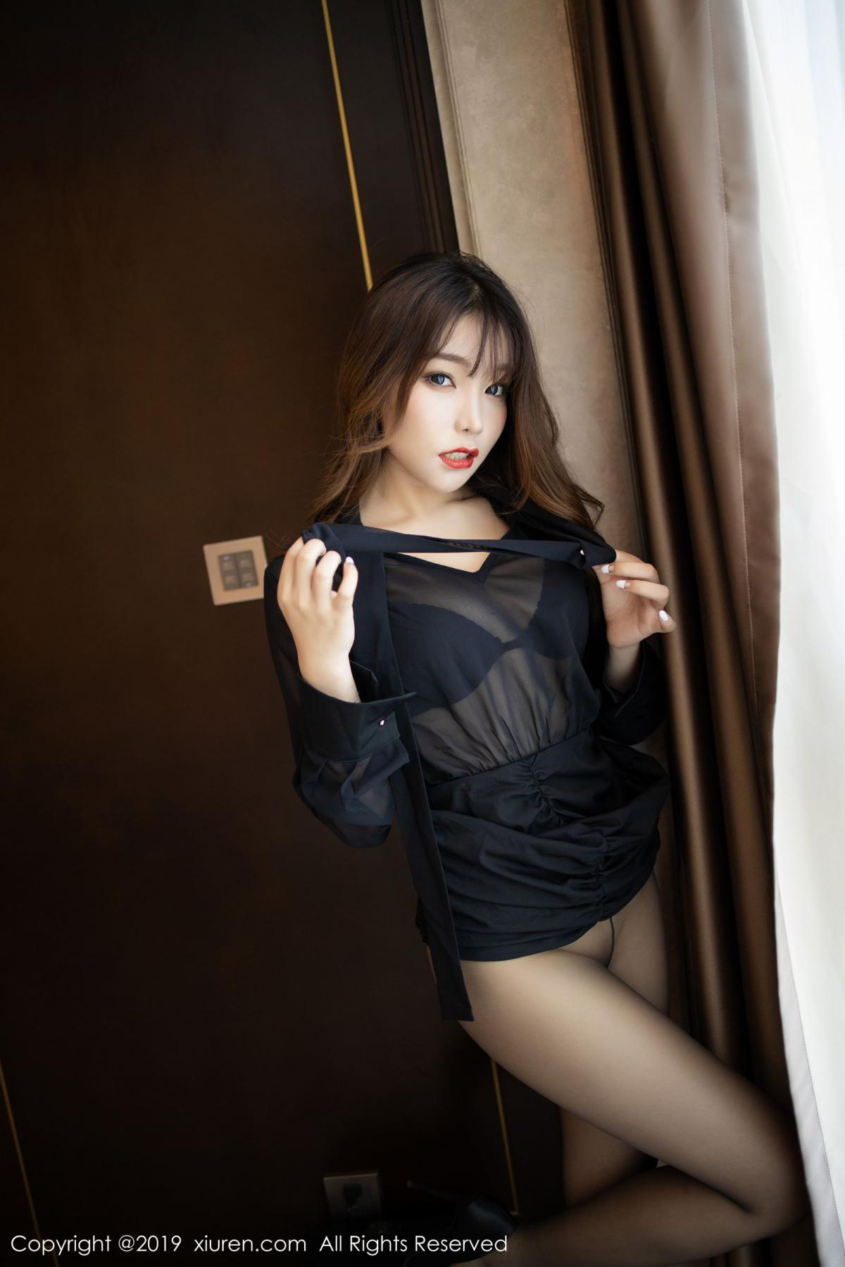 [XiuRen] Vol.1579 Chen Zhi 46P, Big Booty, Black Silk, Chen Zhi, Tall, Xiuren