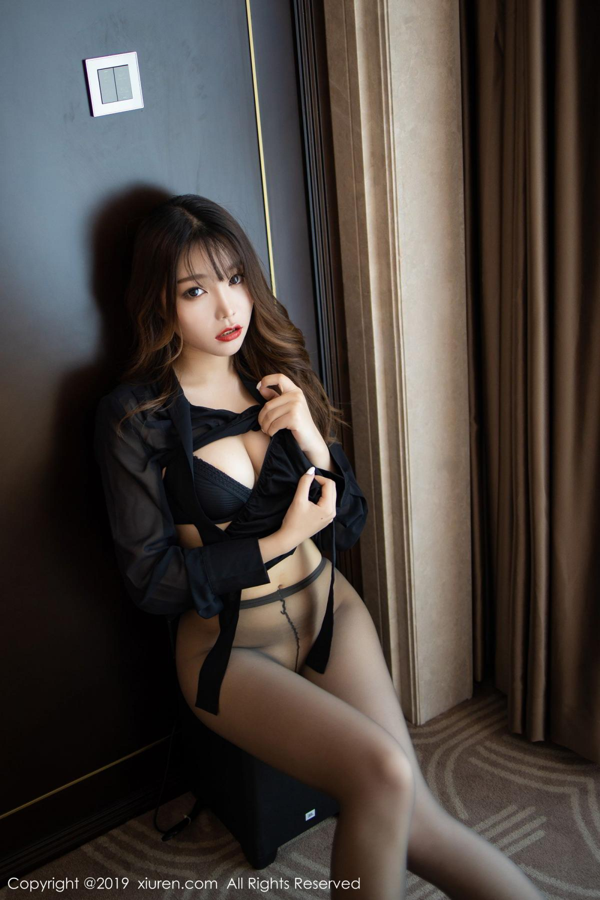 [XiuRen] Vol.1579 Chen Zhi 48P, Big Booty, Black Silk, Chen Zhi, Tall, Xiuren