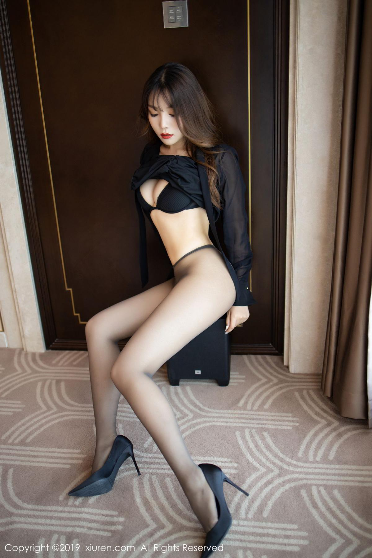 [XiuRen] Vol.1579 Chen Zhi 54P, Big Booty, Black Silk, Chen Zhi, Tall, Xiuren