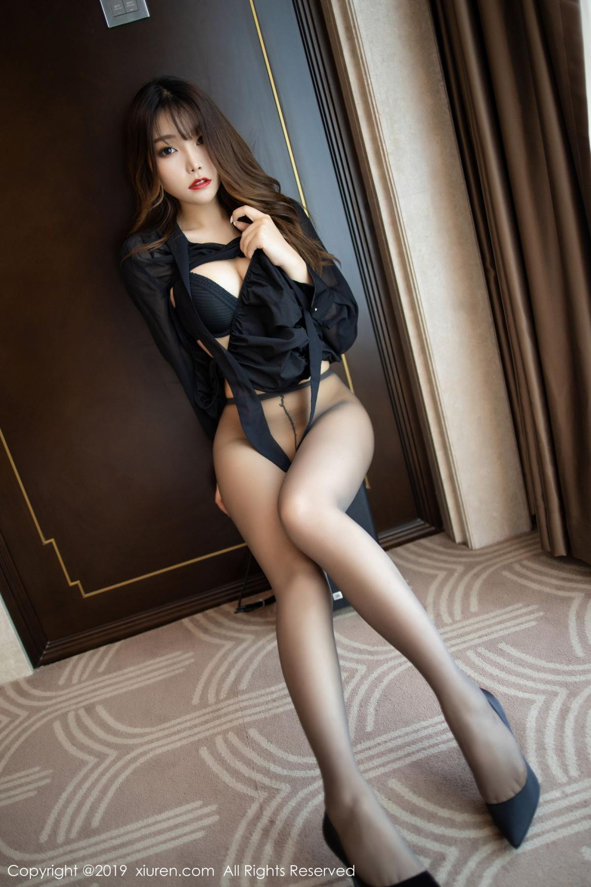 [XiuRen] Vol.1579 Chen Zhi 5P, Big Booty, Black Silk, Chen Zhi, Tall, Xiuren