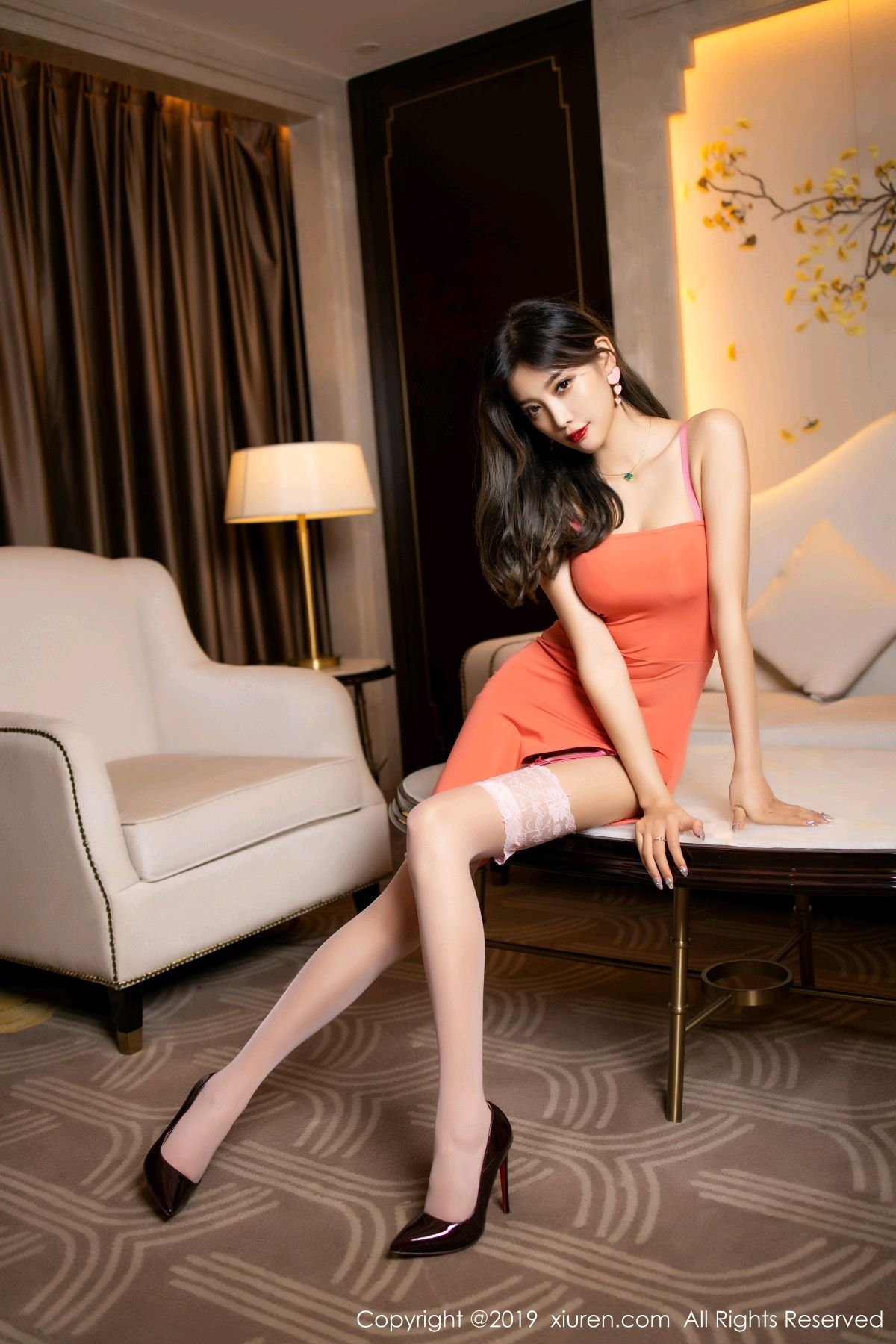 [XiuRen] Vol.1582 Yang Chen Chen 1P, Black Silk, Tall, Temperament, Xiuren, Yang Chen Chen