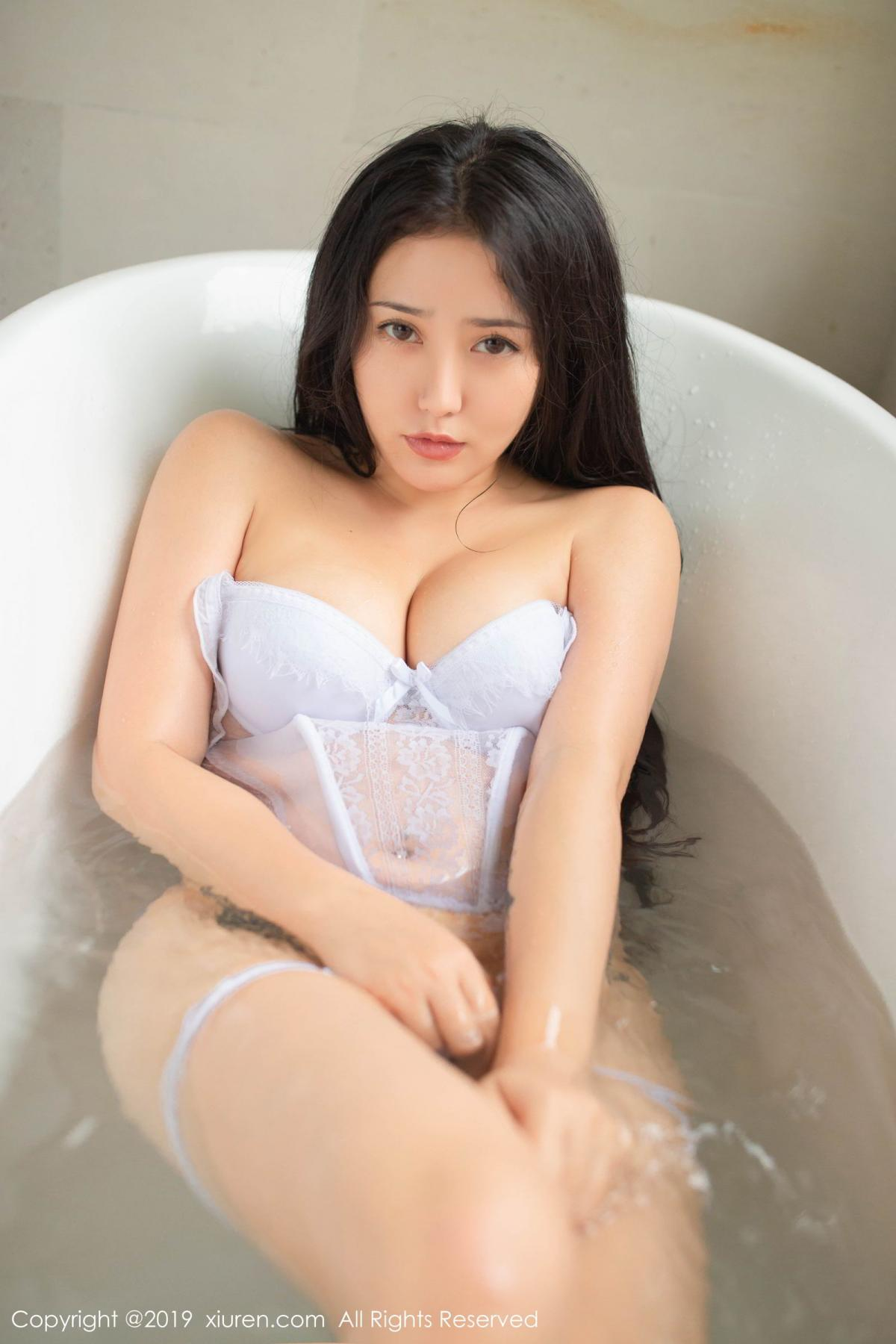 [XiuRen] Vol.1590 Ma Lu Na 19P, Adult, Bathroom, Ma Lu Na, Wet, Xiuren