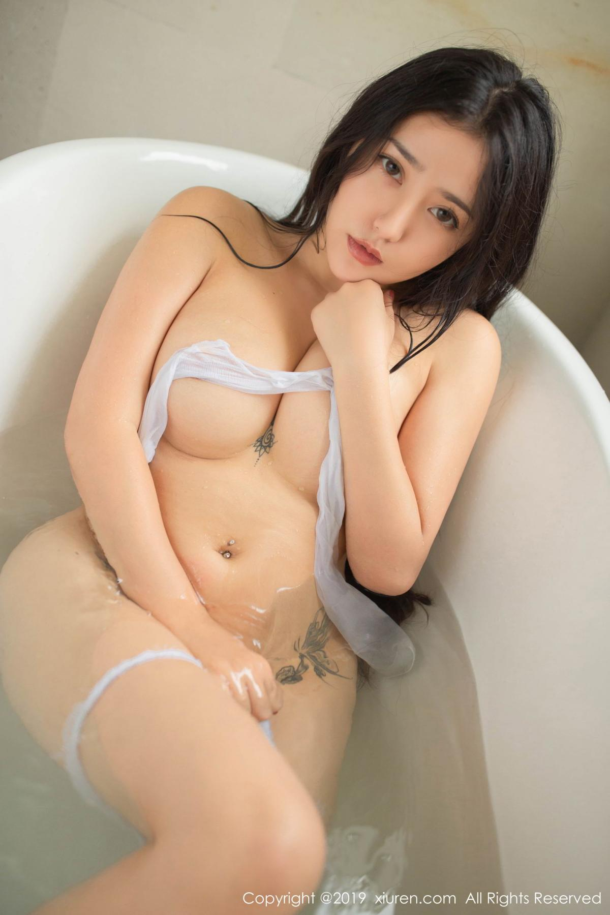 [XiuRen] Vol.1590 Ma Lu Na 45P, Adult, Bathroom, Ma Lu Na, Wet, Xiuren