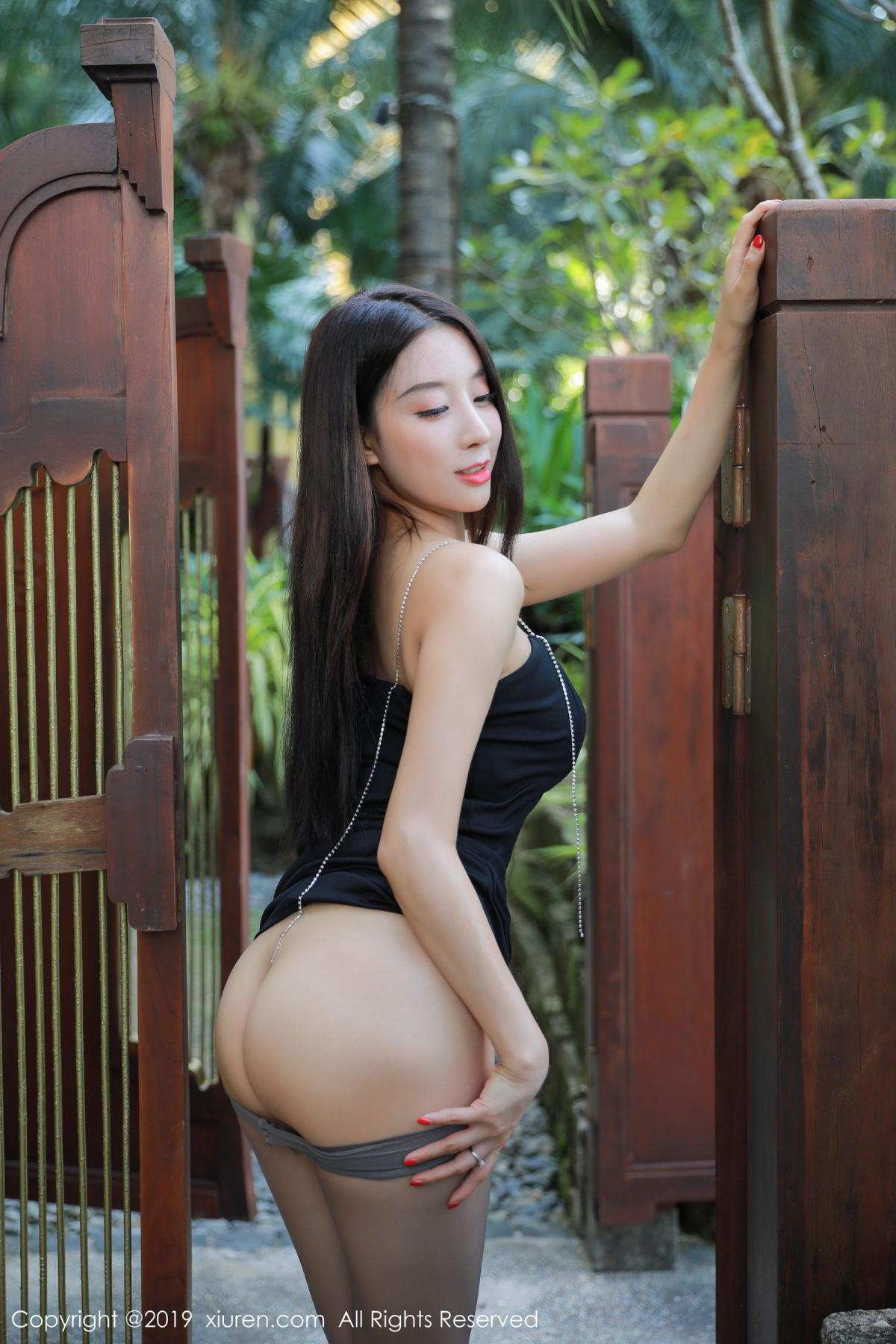 [XiuRen] Vol.1593 Duan Xiao Hui 11P, Black Silk, Duan Xiao Hui, Peach Hip, Xiuren