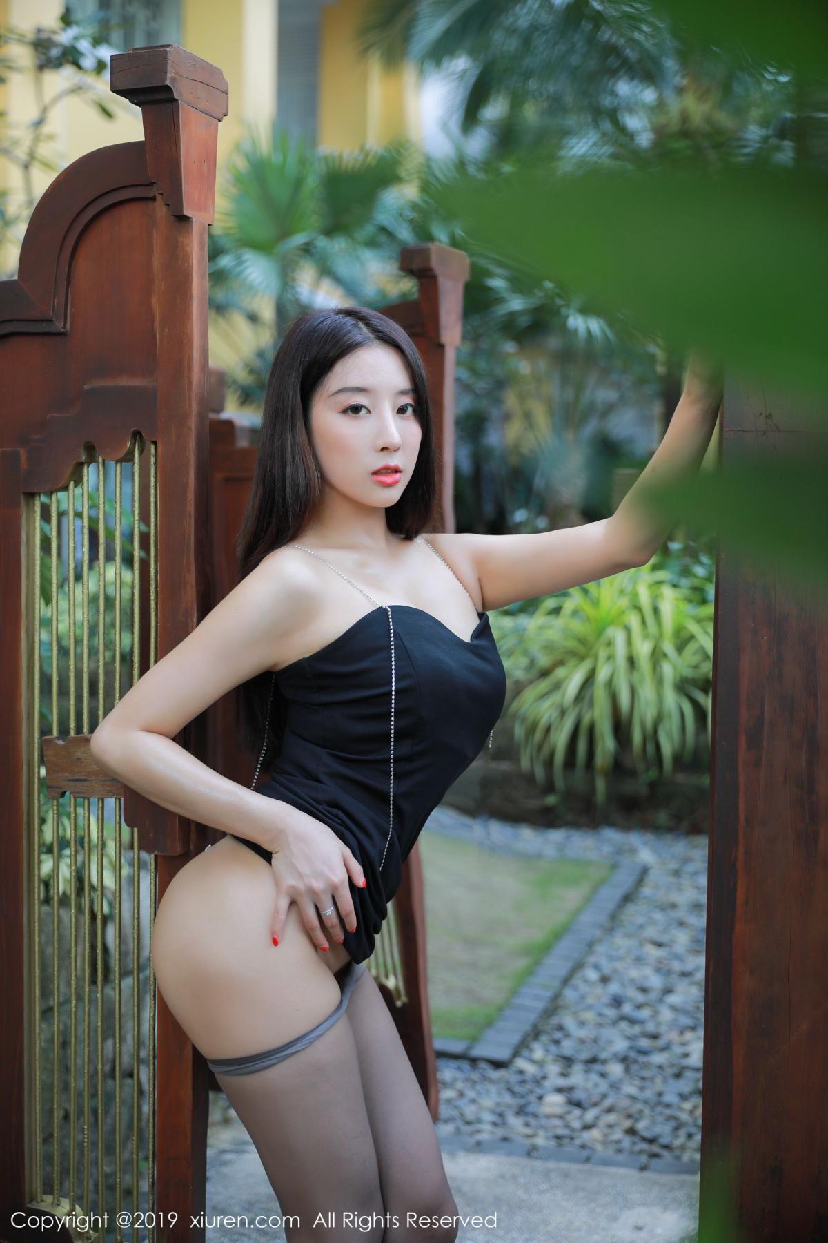 [XiuRen] Vol.1593 Duan Xiao Hui 16P, Black Silk, Duan Xiao Hui, Peach Hip, Xiuren