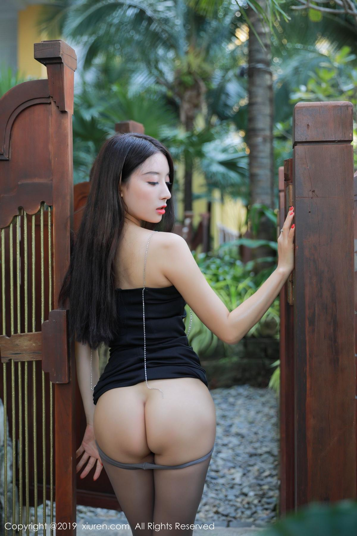 [XiuRen] Vol.1593 Duan Xiao Hui 17P, Black Silk, Duan Xiao Hui, Peach Hip, Xiuren