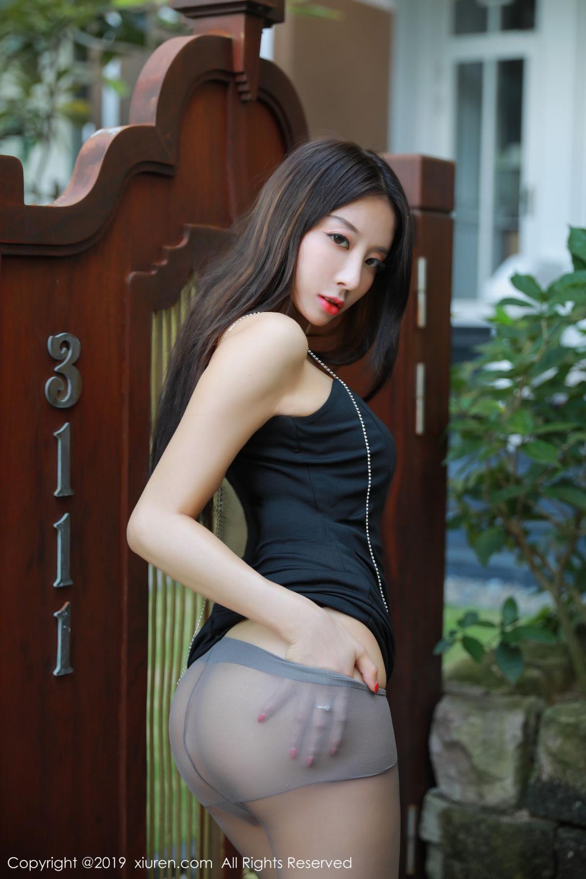 [XiuRen] Vol.1593 Duan Xiao Hui 22P, Black Silk, Duan Xiao Hui, Peach Hip, Xiuren