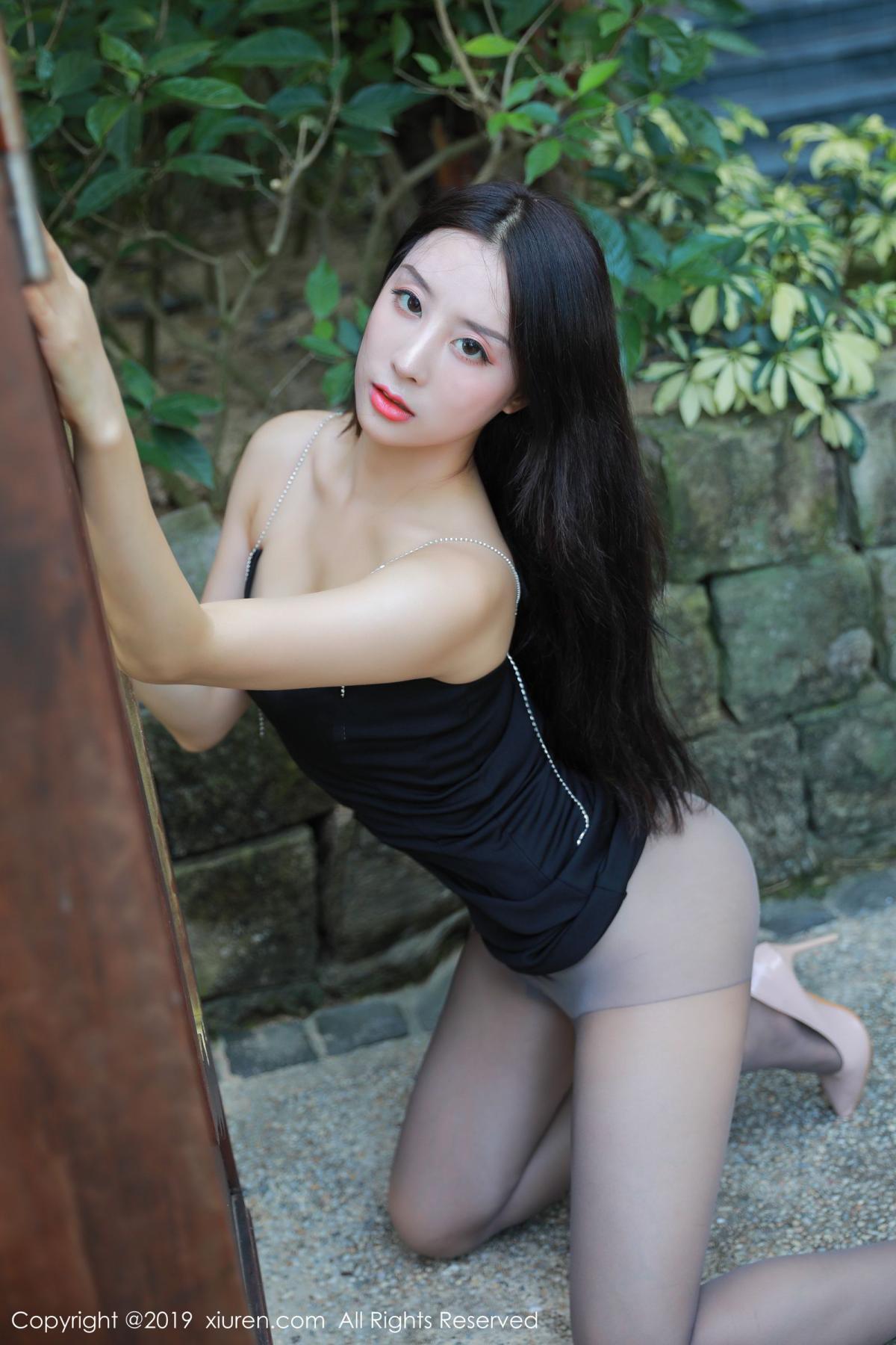 [XiuRen] Vol.1593 Duan Xiao Hui 24P, Black Silk, Duan Xiao Hui, Peach Hip, Xiuren