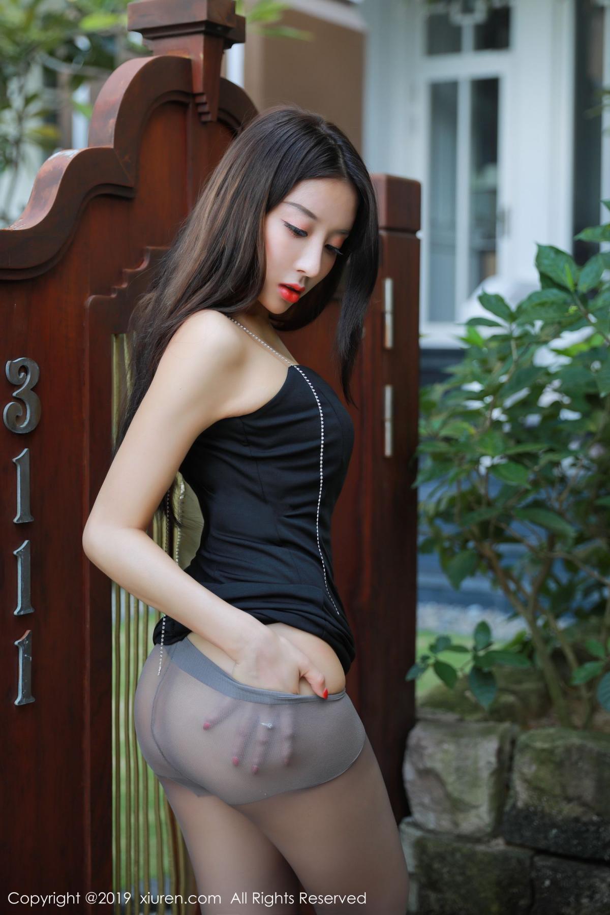 [XiuRen] Vol.1593 Duan Xiao Hui 2P, Black Silk, Duan Xiao Hui, Peach Hip, Xiuren
