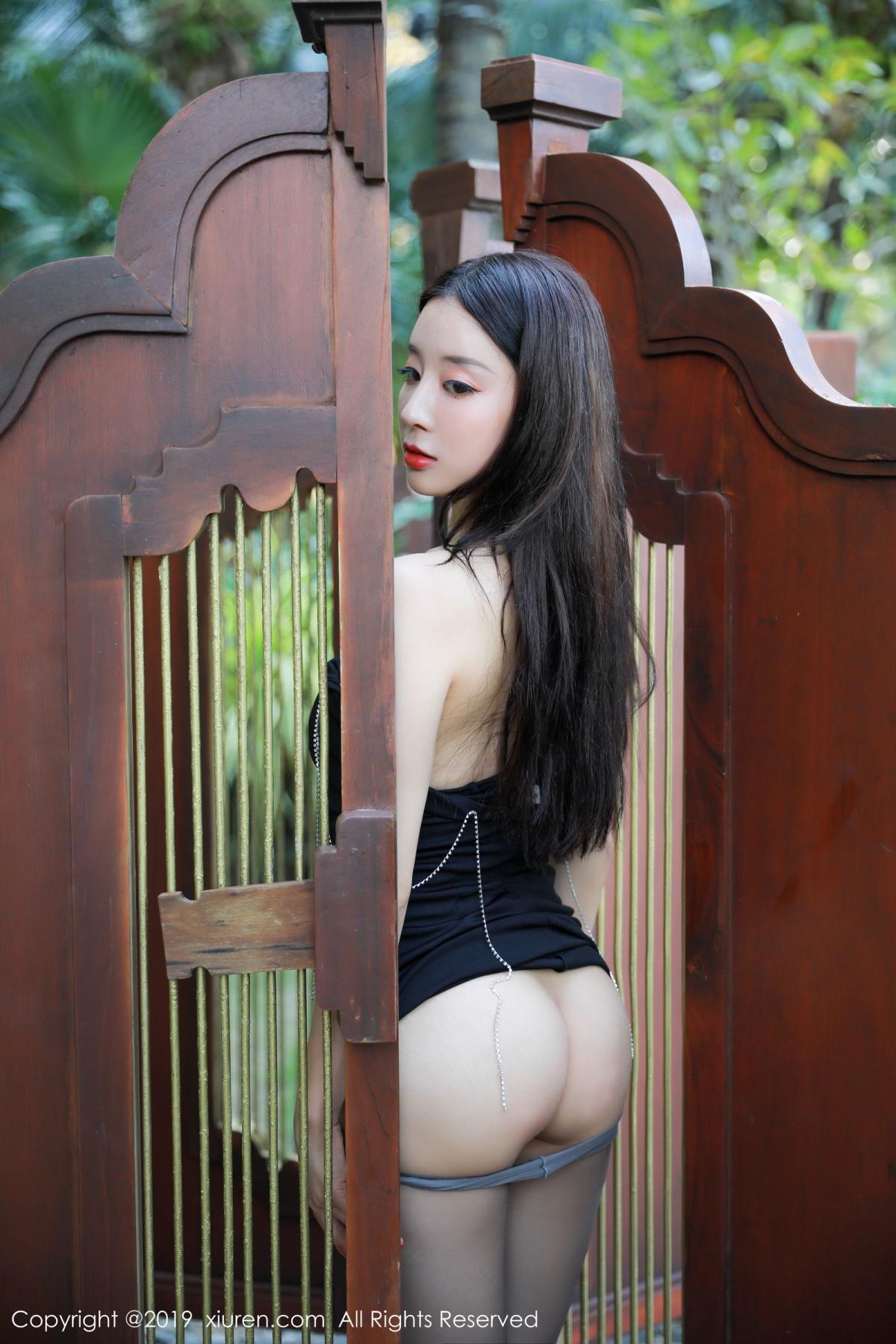 [XiuRen] Vol.1593 Duan Xiao Hui 30P, Black Silk, Duan Xiao Hui, Peach Hip, Xiuren