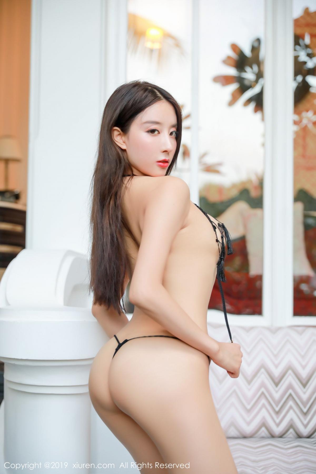 [XiuRen] Vol.1593 Duan Xiao Hui 32P, Black Silk, Duan Xiao Hui, Peach Hip, Xiuren