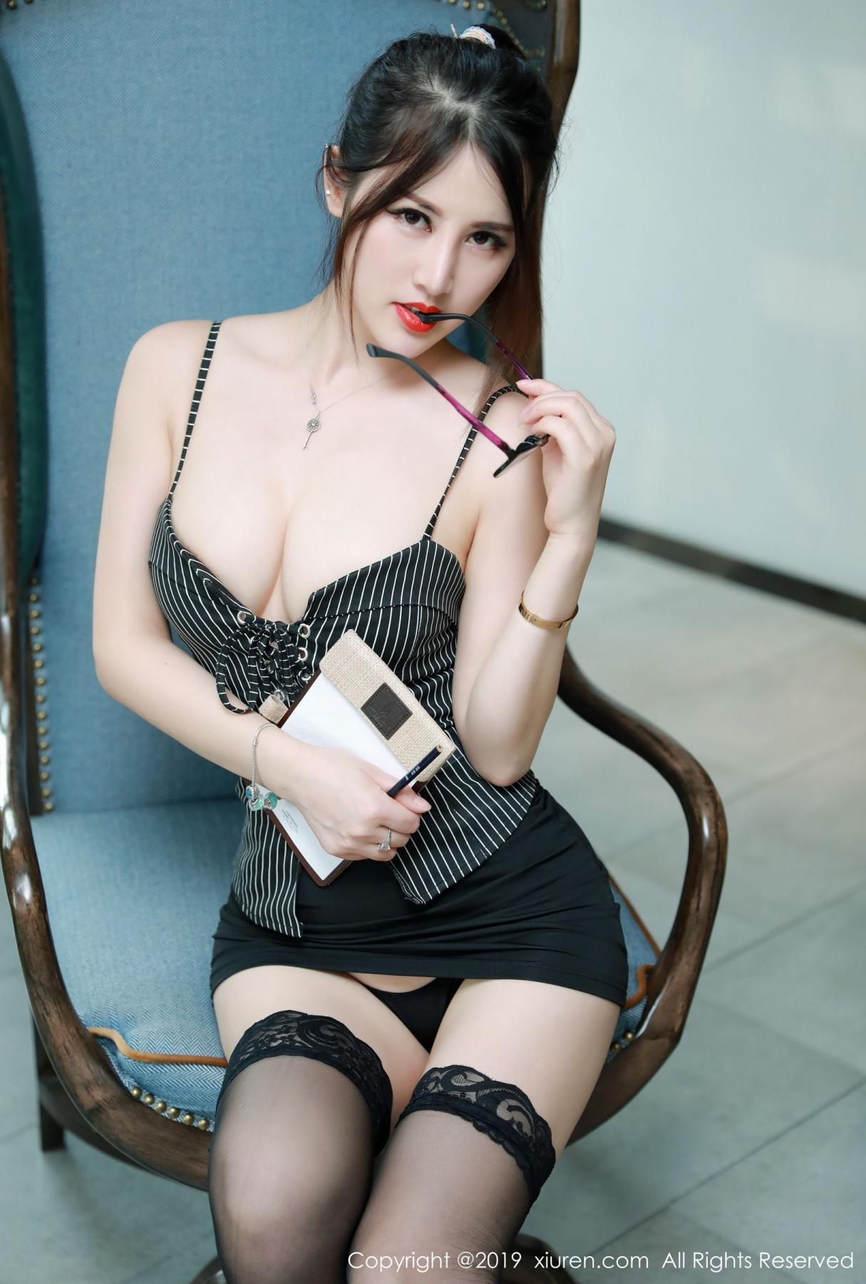 [XiuRen] Vol.1600 Chen Shi Shi 40P, Black Silk, Chen Shi Shi, Xiuren