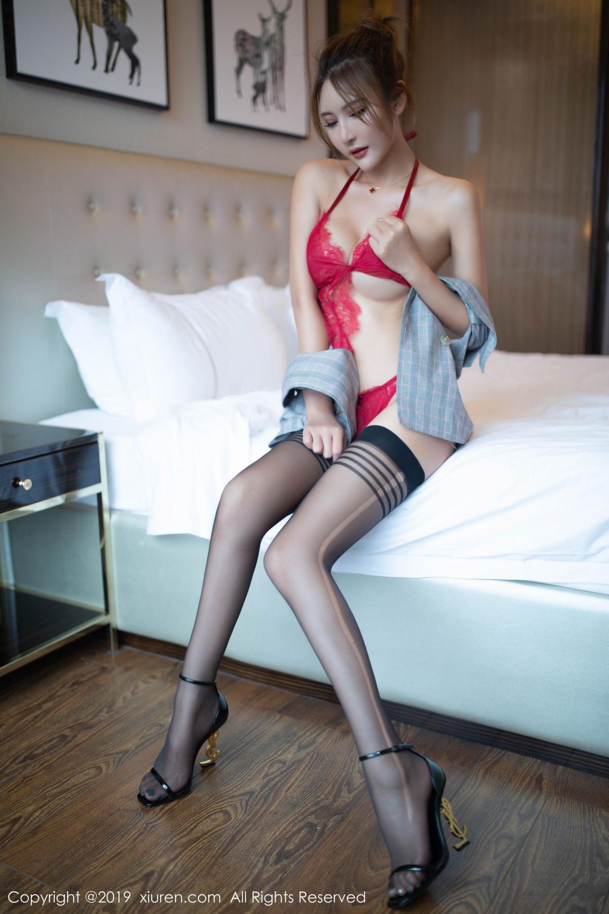 [XiuRen] Vol.1605 Solo Yi Fei 33P, Black Silk, Solo Yi Fei, Underwear, Xiuren
