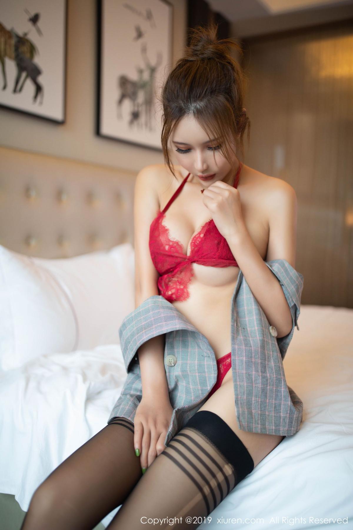 [XiuRen] Vol.1605 Solo Yi Fei 34P, Black Silk, Solo Yi Fei, Underwear, Xiuren